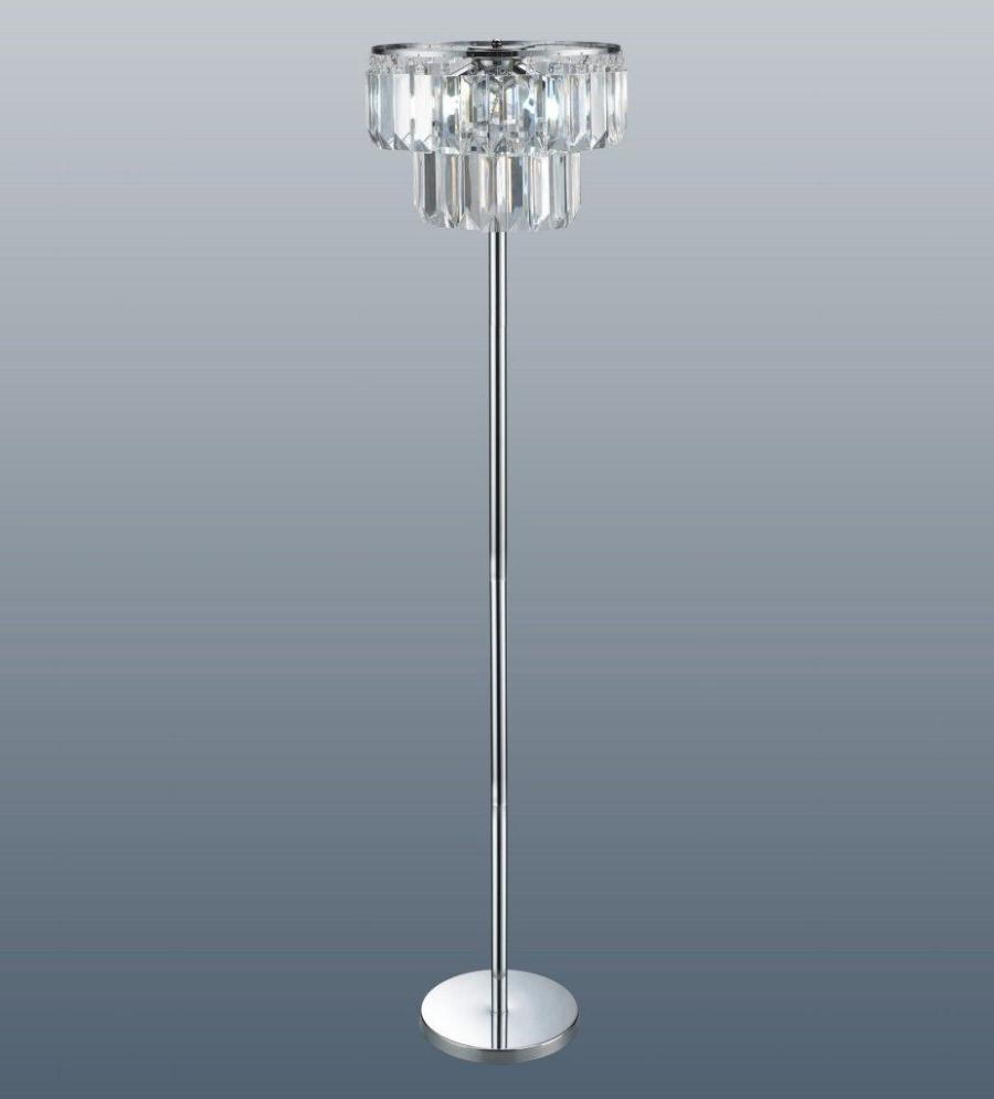 Standing Chandelier Floor Lamps In 2018 Chandelier Floor Lamp Diy — Montserrat Home Design : Glam Crystal (View 13 of 20)