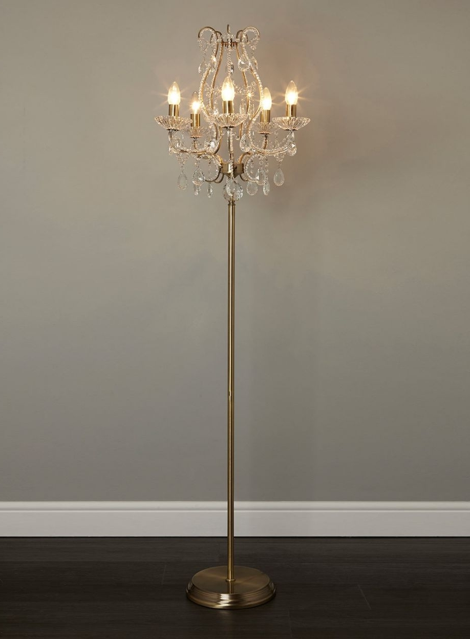 Standing Chandeliers Within Most Popular Standing Chandelier Floor Lamp Home Design Ideas Pertaining To  (View 15 of 20)