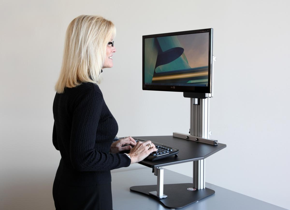 Standing Computer Desks Throughout Preferred Standing Desk Converter Computer : New Option Standing Desk (View 17 of 20)