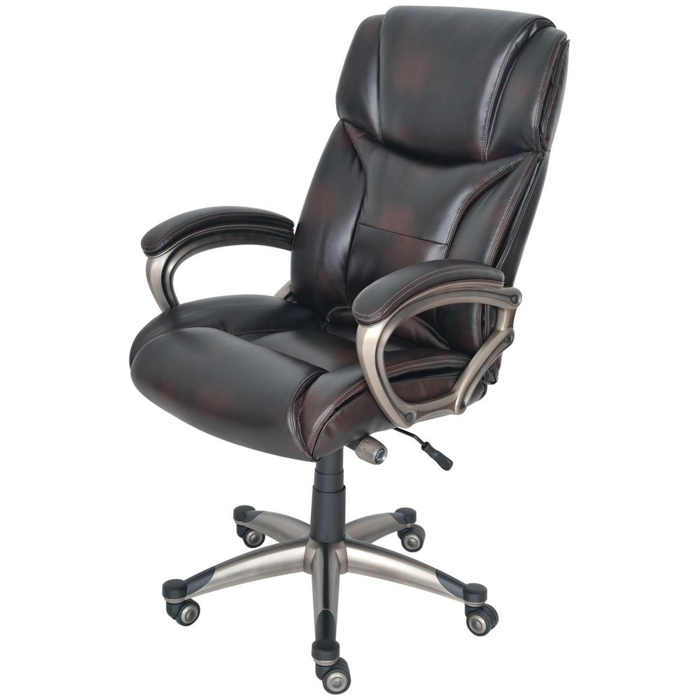Staples Mayfair Bonded Leather Executive Chair, Antique (View 18 of 20)