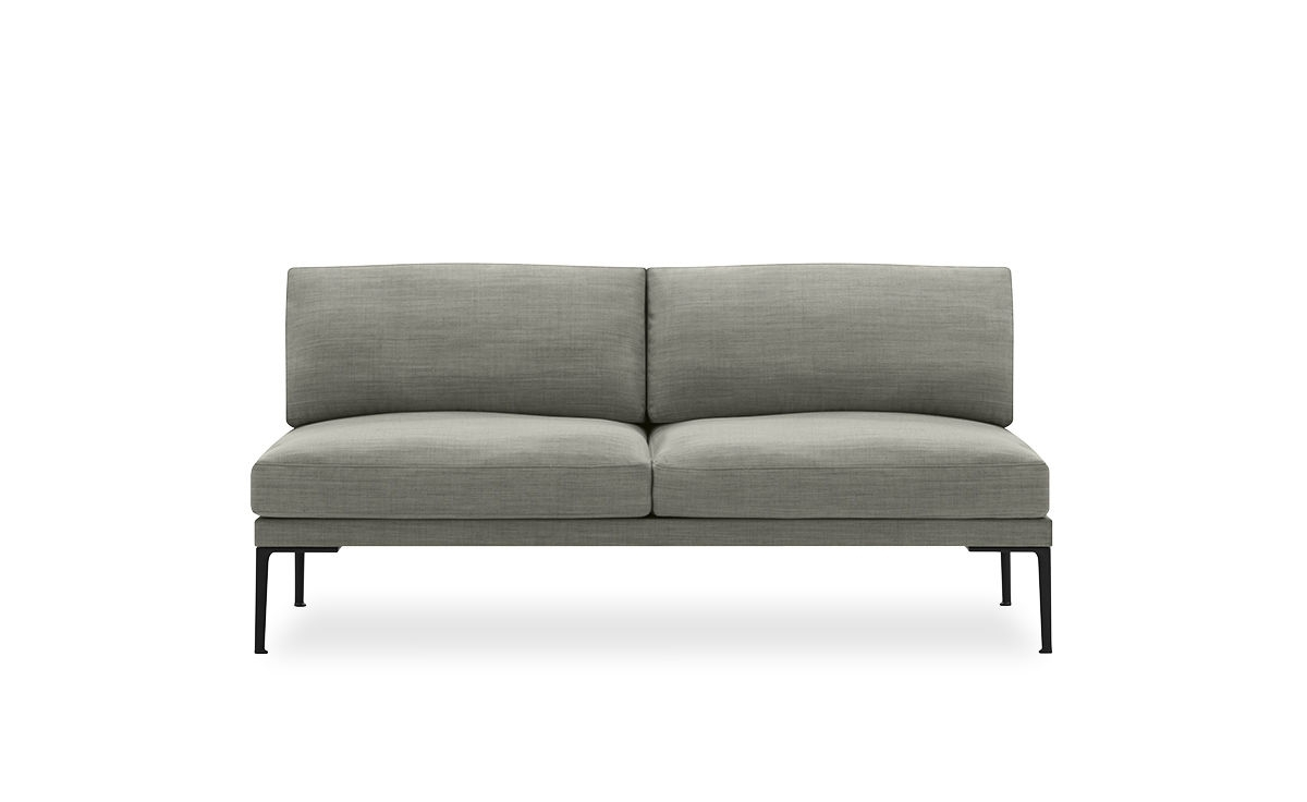 Steeve Two Seat Sofa Without Arms – Hivemodern With Regard To Trendy Two Seater Sofas (View 13 of 20)