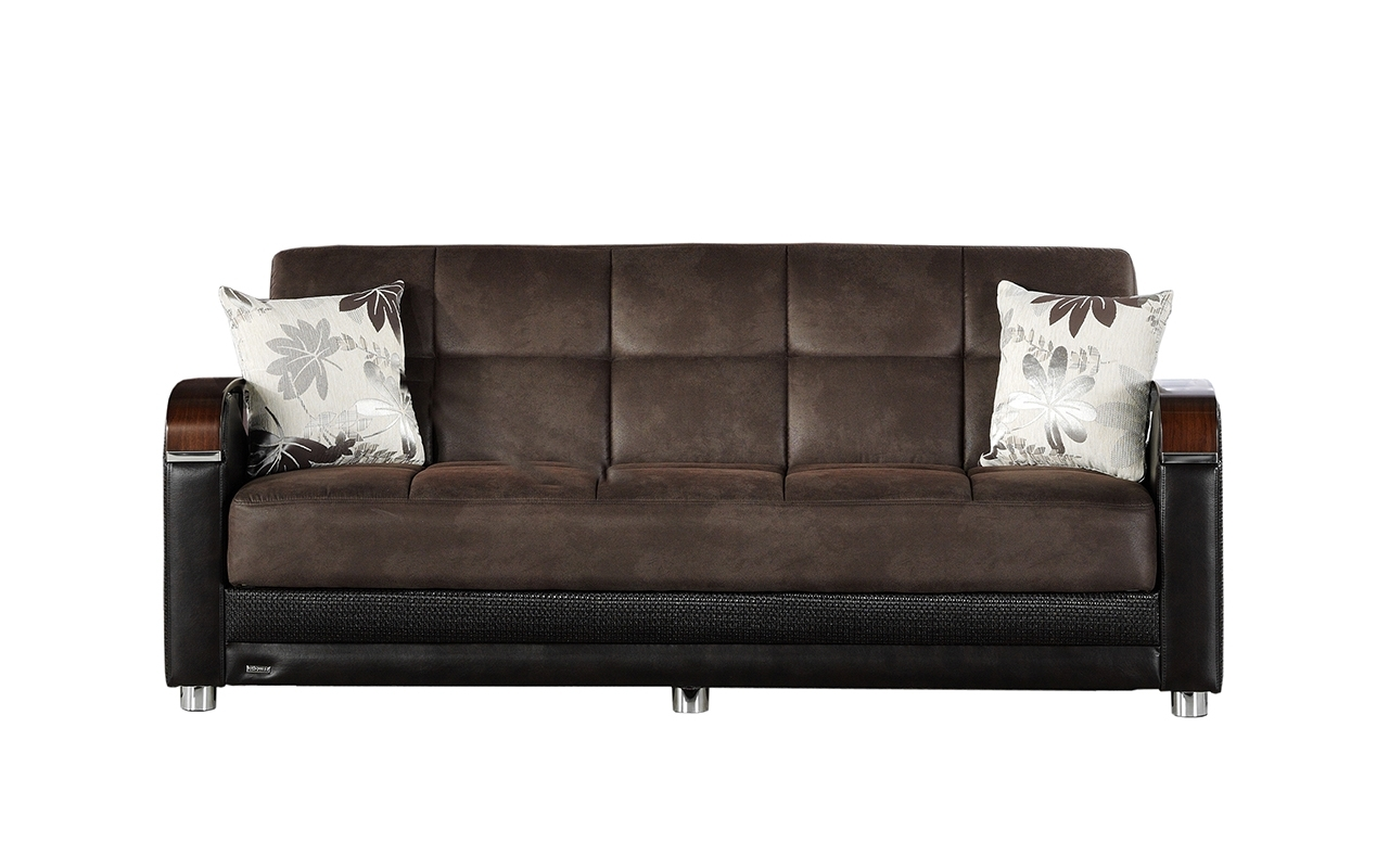 Storage Sofas With Trendy Convertible Sofas :: Luna Convertible Sofa With Storage (View 20 of 20)
