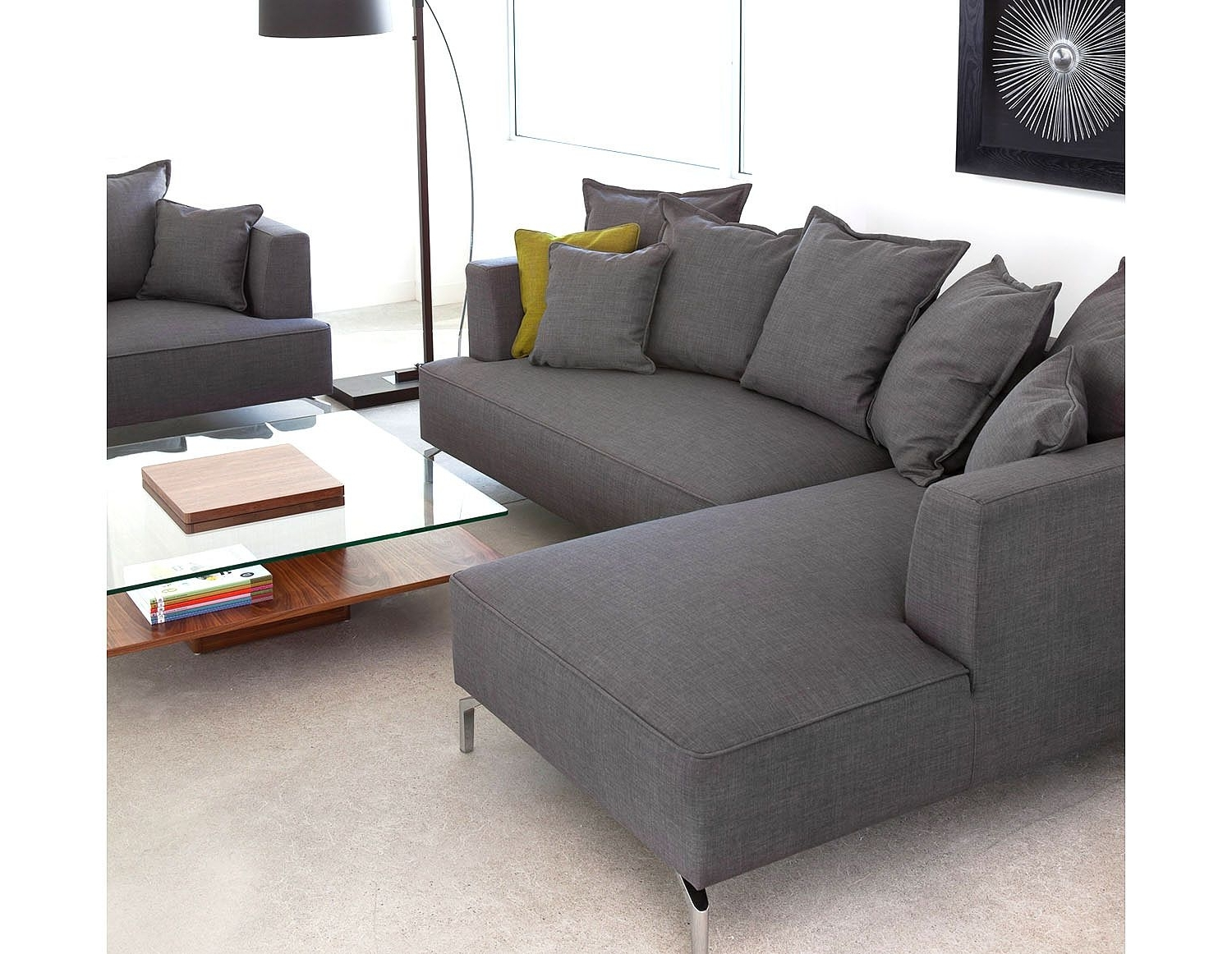 Structube Sectional Sofas For Most Current Structube – Lighting : Floor Lamps : Curva (dark Brown) (View 2 of 20)