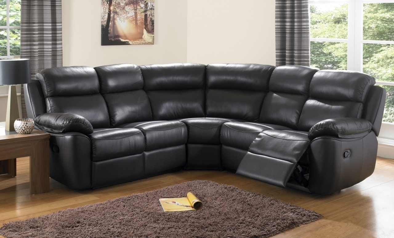 Stunning Black Leather Reclining Sectional Sofa Pictures Throughout Newest Curved Sectional Sofas With Recliner (View 19 of 20)