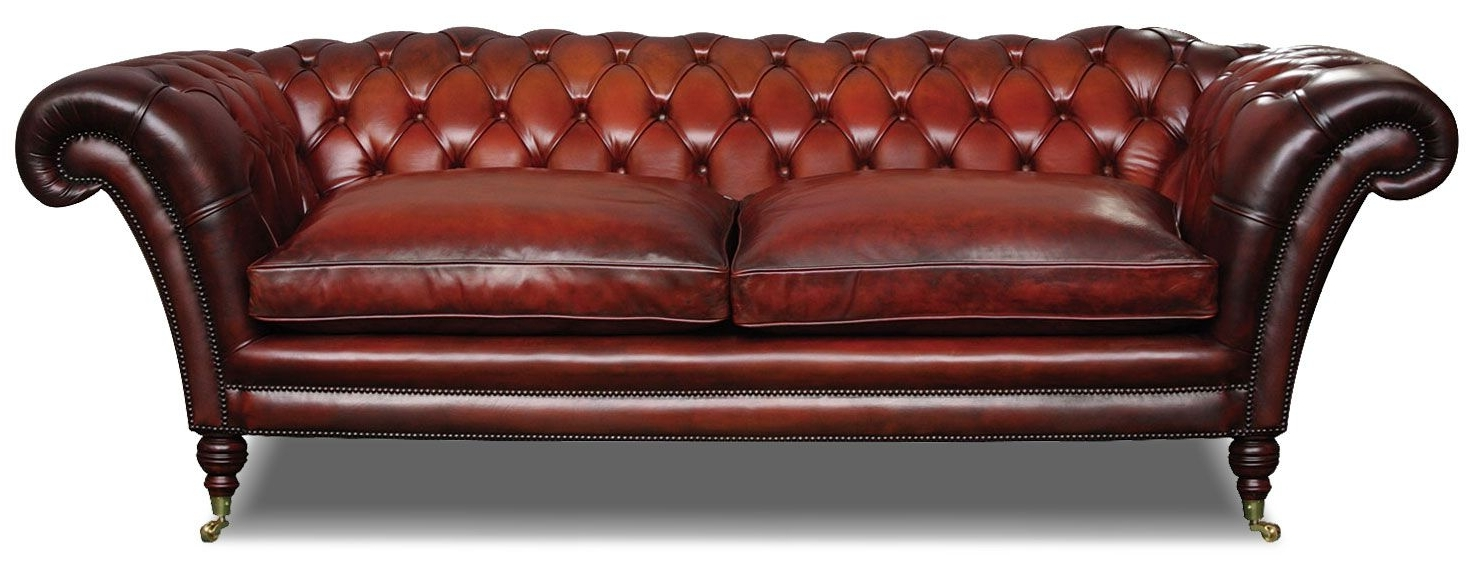 Stylish Victorian Leather Chesterfield 3 Seat Sofa In Hand Dyed Inside Widely Used Victorian Leather Sofas (View 13 of 20)
