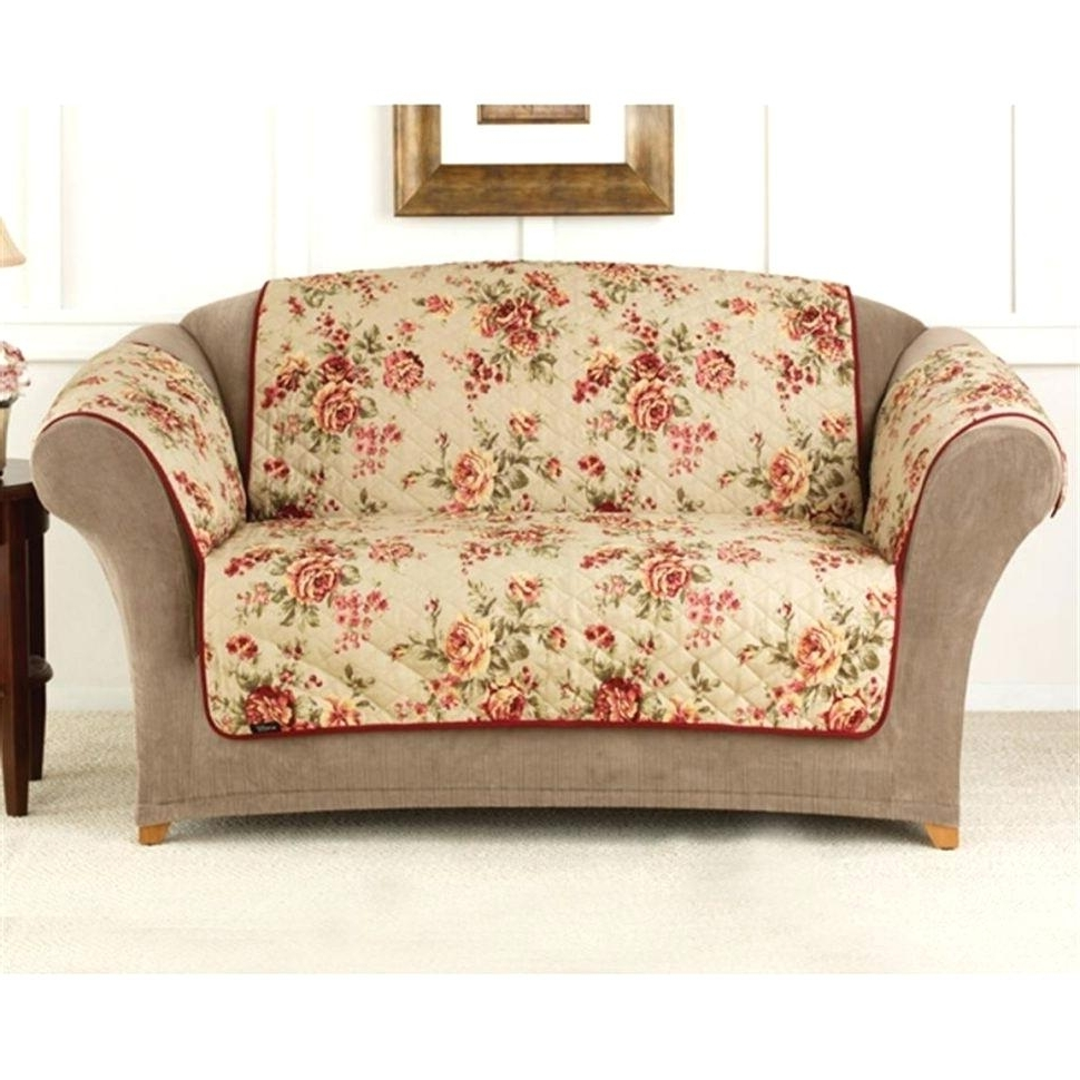 Sure Fit Pet Furniture Covers For Sofas Quilted Corduroy Sofa Intended For  Current Floral Sofas And