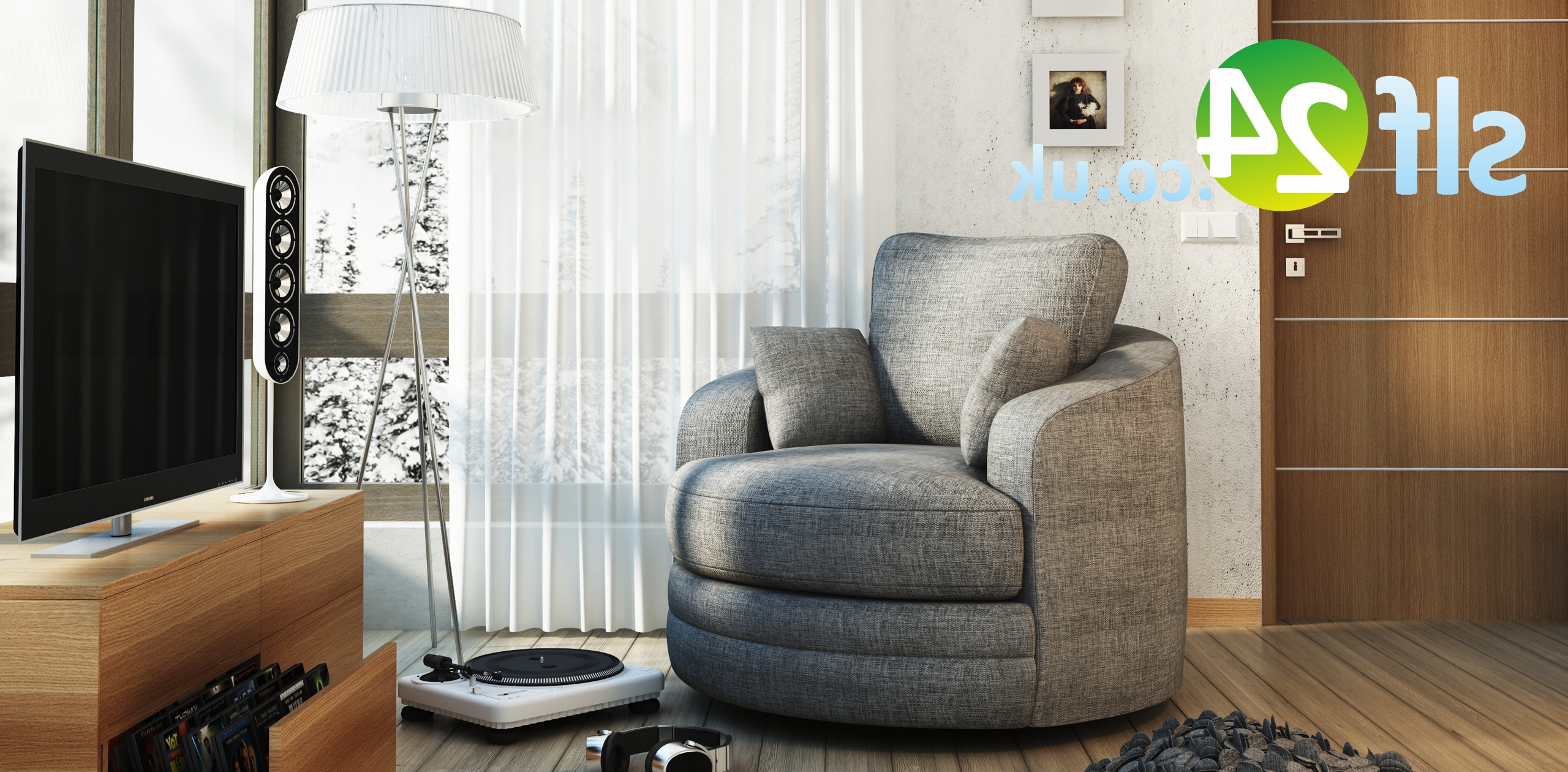 Swivel Cuddle Chair Sofa For Widely Used Cuddler Swivel Sofa Chairs (View 11 of 20)