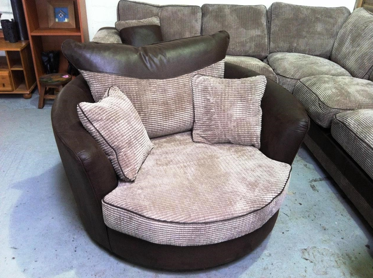 Swivel Sofa Chairs Throughout 2019 Sofa : Round Swivel Sofa Chair Round Sofa Chair Small Sofa Bed' L (View 15 of 20)