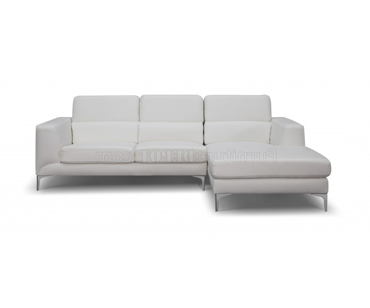 Sydney Sectional Sofa In White Faux Leatherwhiteline With Regard To Favorite Sydney Sectional Sofas (View 14 of 20)
