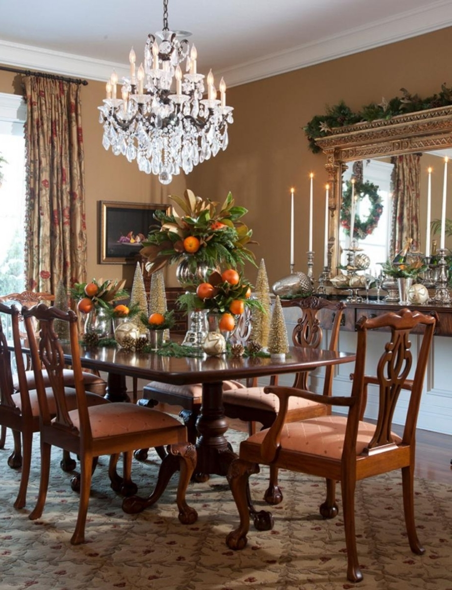 Table Chandeliers With Well Known Light : Chandelier Dining Room Cool Traditional L For Igfusa Ceiling (View 16 of 20)
