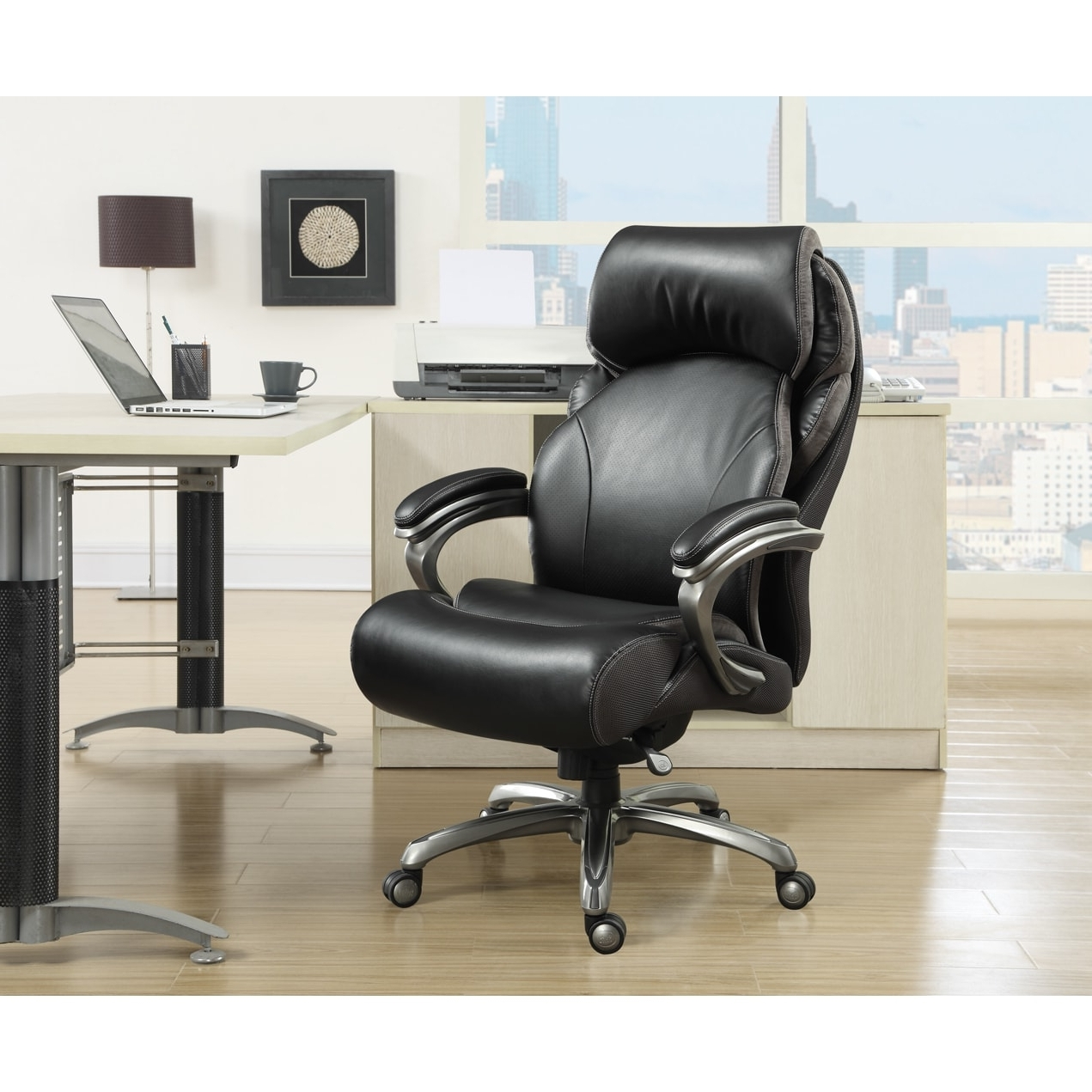 Tall Executive Office Chairs Throughout Latest Serta Big & Tall Tranquility Smart Layers Executive Office Chair (View 18 of 20)