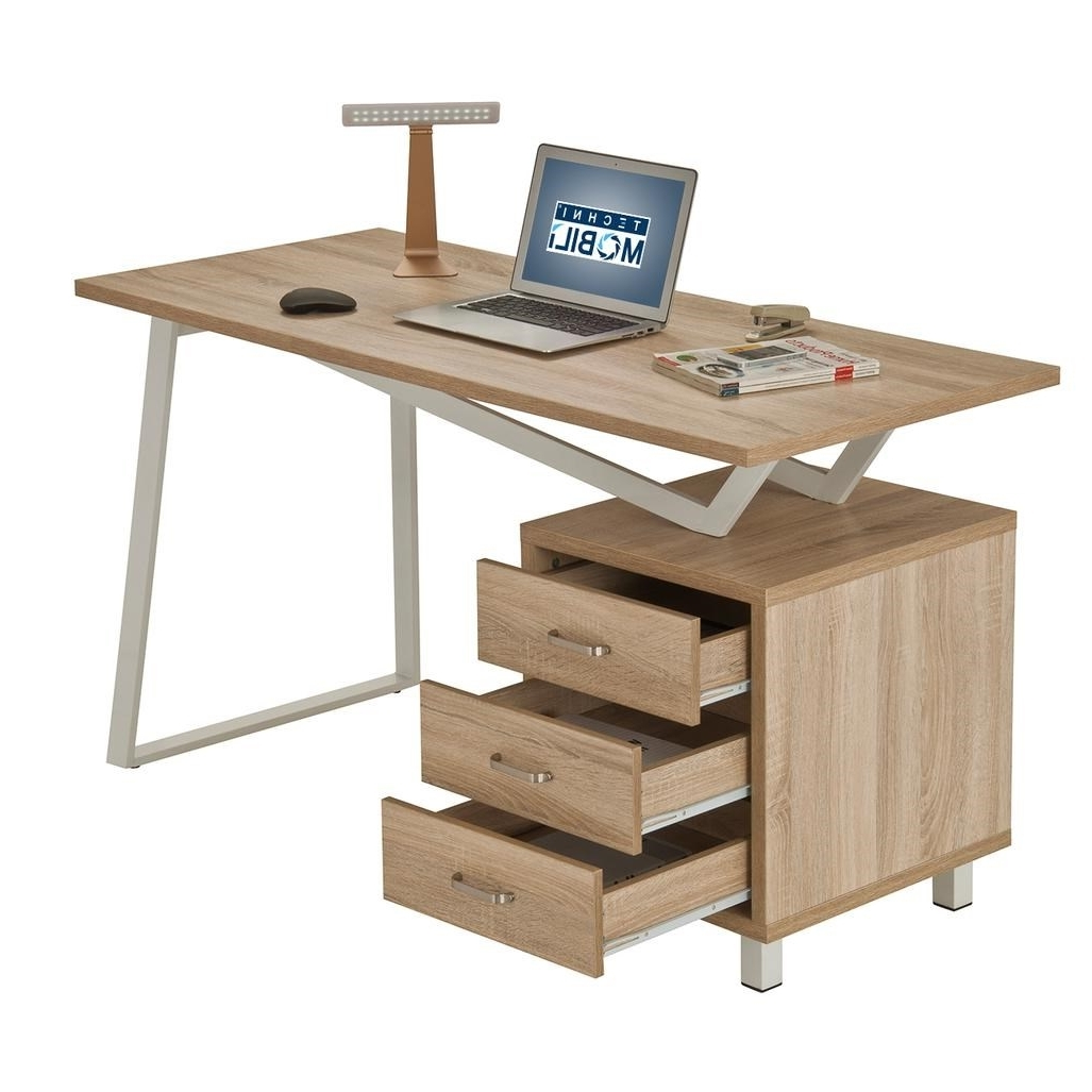 Techni Mobili Rta 2333 Snd Modern Computer Desk In Sand With Inside 2018 Modern Computer Desks (View 16 of 20)