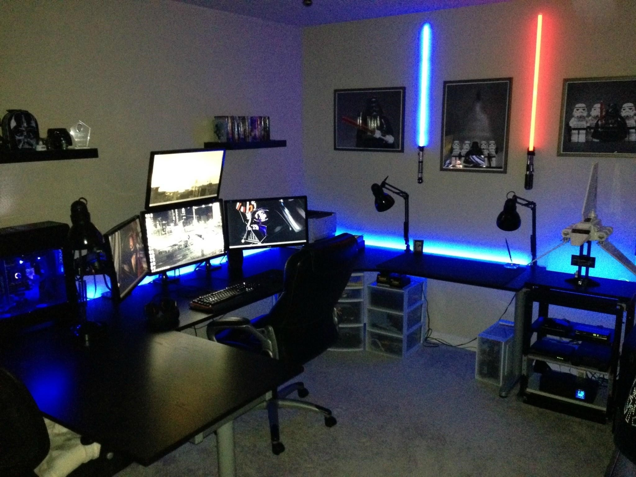 Terrific Gaming Computer Desks For Home Pictures Decoration Ideas With Best And Newest Computer Gaming Desks For Home (View 19 of 20)