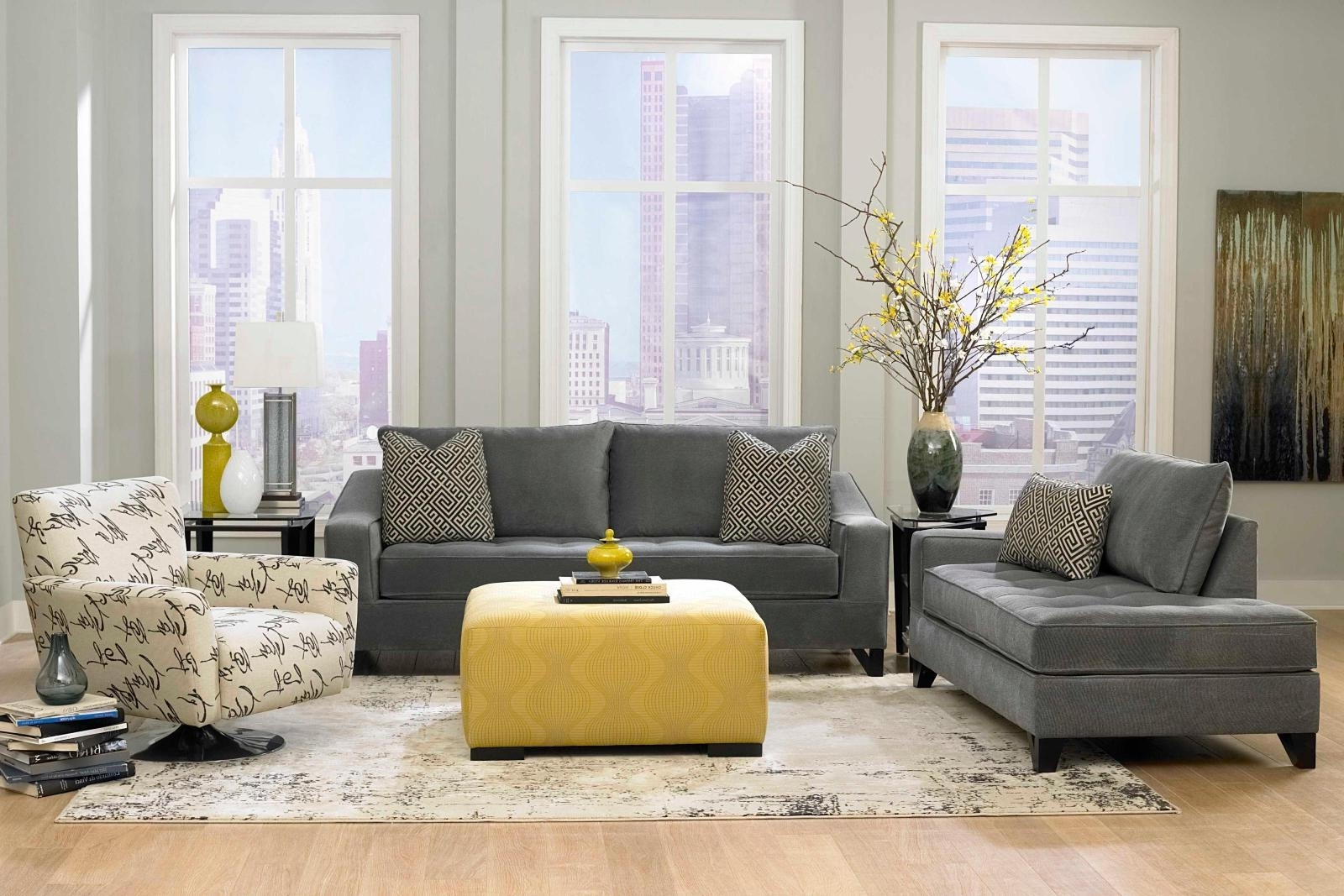 The Bay Sectional Sofas Inside Fashionable Grey Living Room Gray Furniture Ideas Laminate Wooden Flooring (Gallery 4 of 20)
