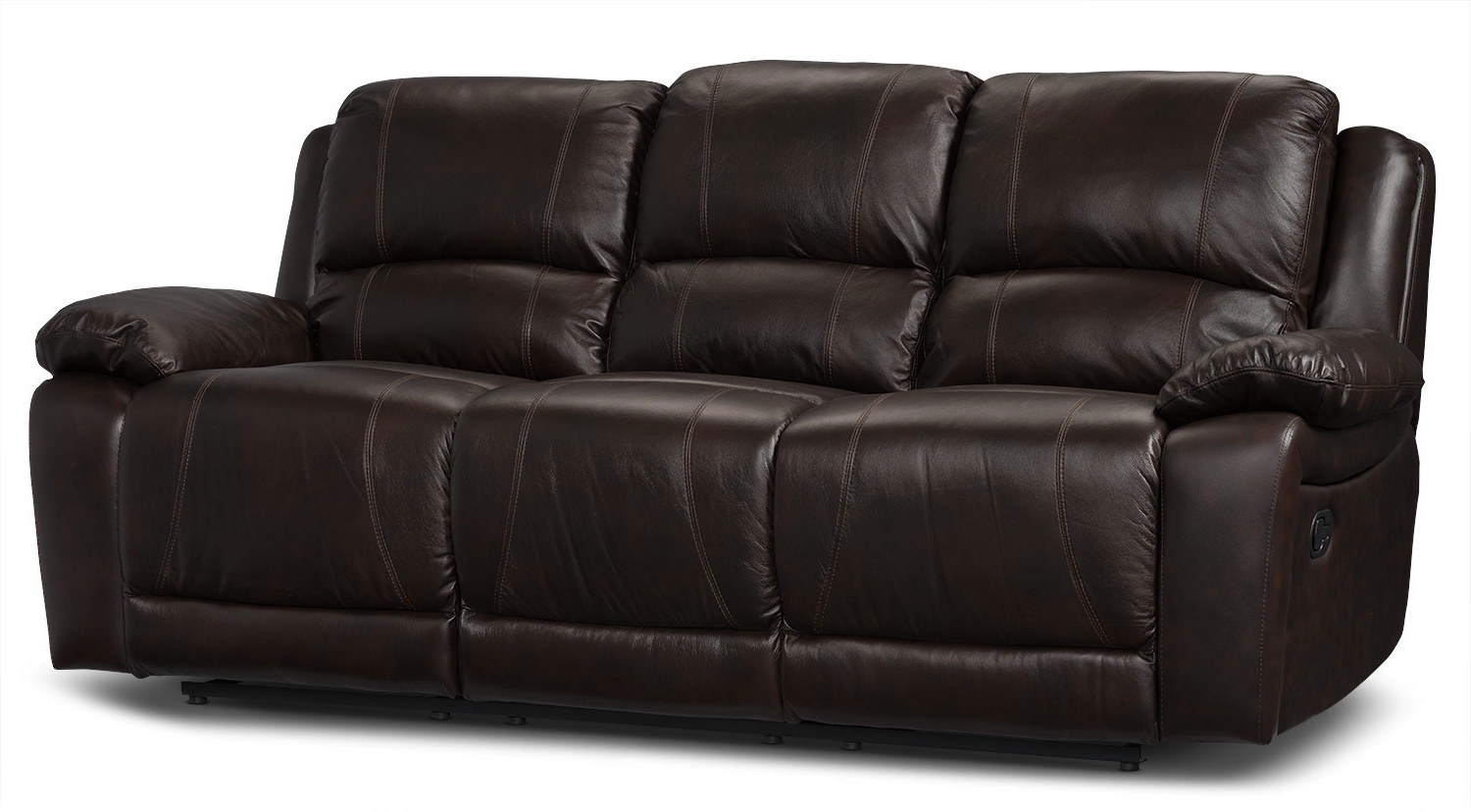 The Brick Leather Sofas Pertaining To Most Up To Date Real Leather Recliner Sofa 41 With Real Leather Recliner Sofa (View 17 of 20)