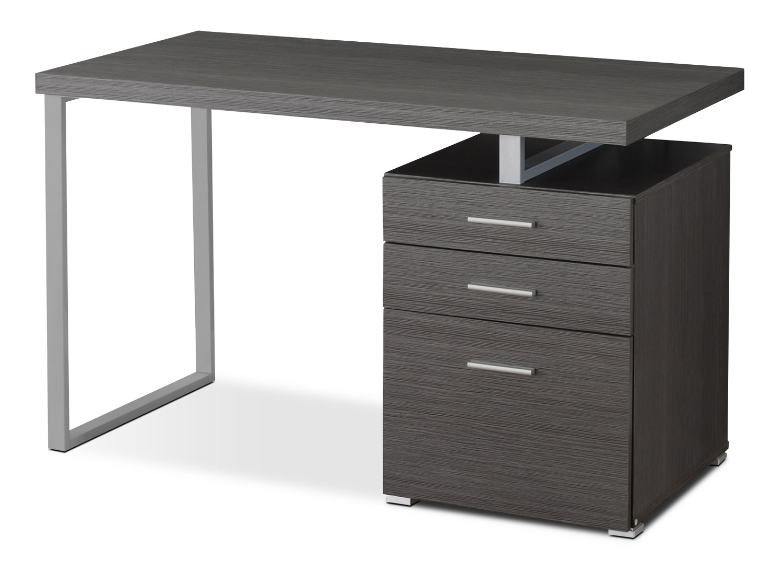The Brick Regarding Recent Grey Computer Desks (View 16 of 20)