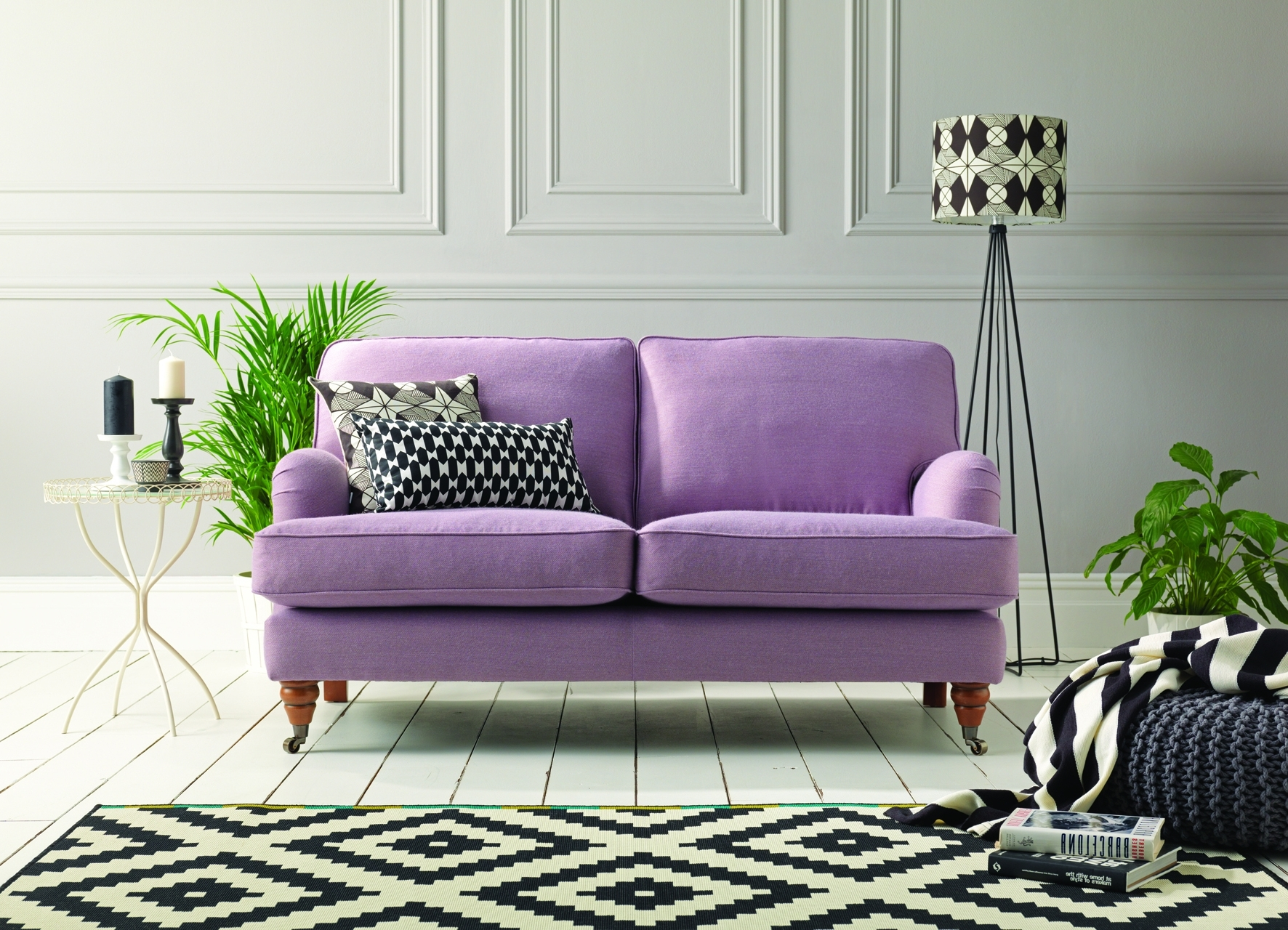 The Florence 2 Seater Sofa In Muirfield Lavender, Named After With Current Florence Grand Sofas (View 16 of 20)