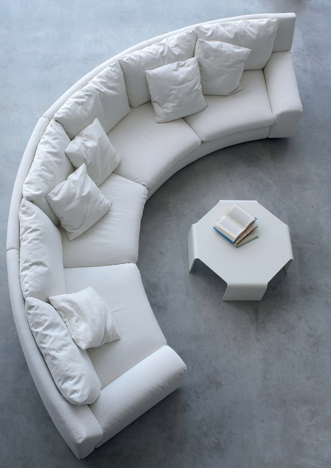 The Semicircular Sofa In Fabric Ben Ben, Arflex – Luxury Furniture Mr Within Fashionable Semicircular Sofas (View 19 of 20)