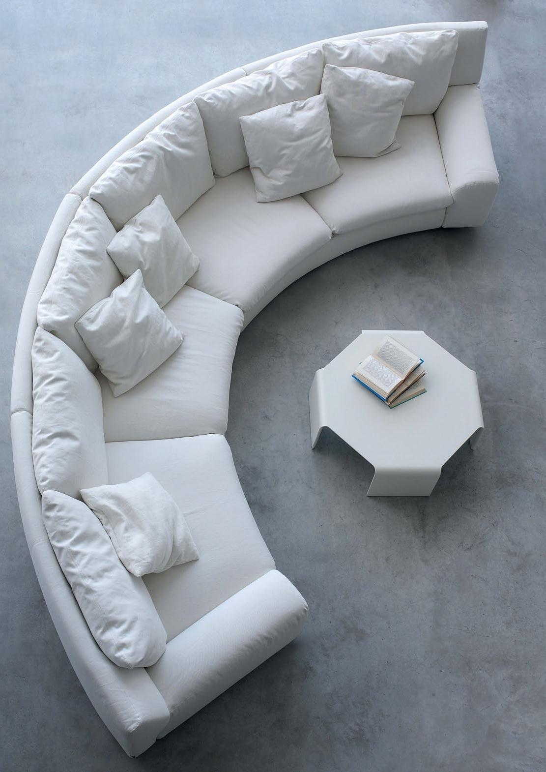 The Semicircular Sofa In Fabric Ben Ben, Arflex – Luxury Furniture Mr Within Fashionable Semicircular Sofas (View 10 of 20)