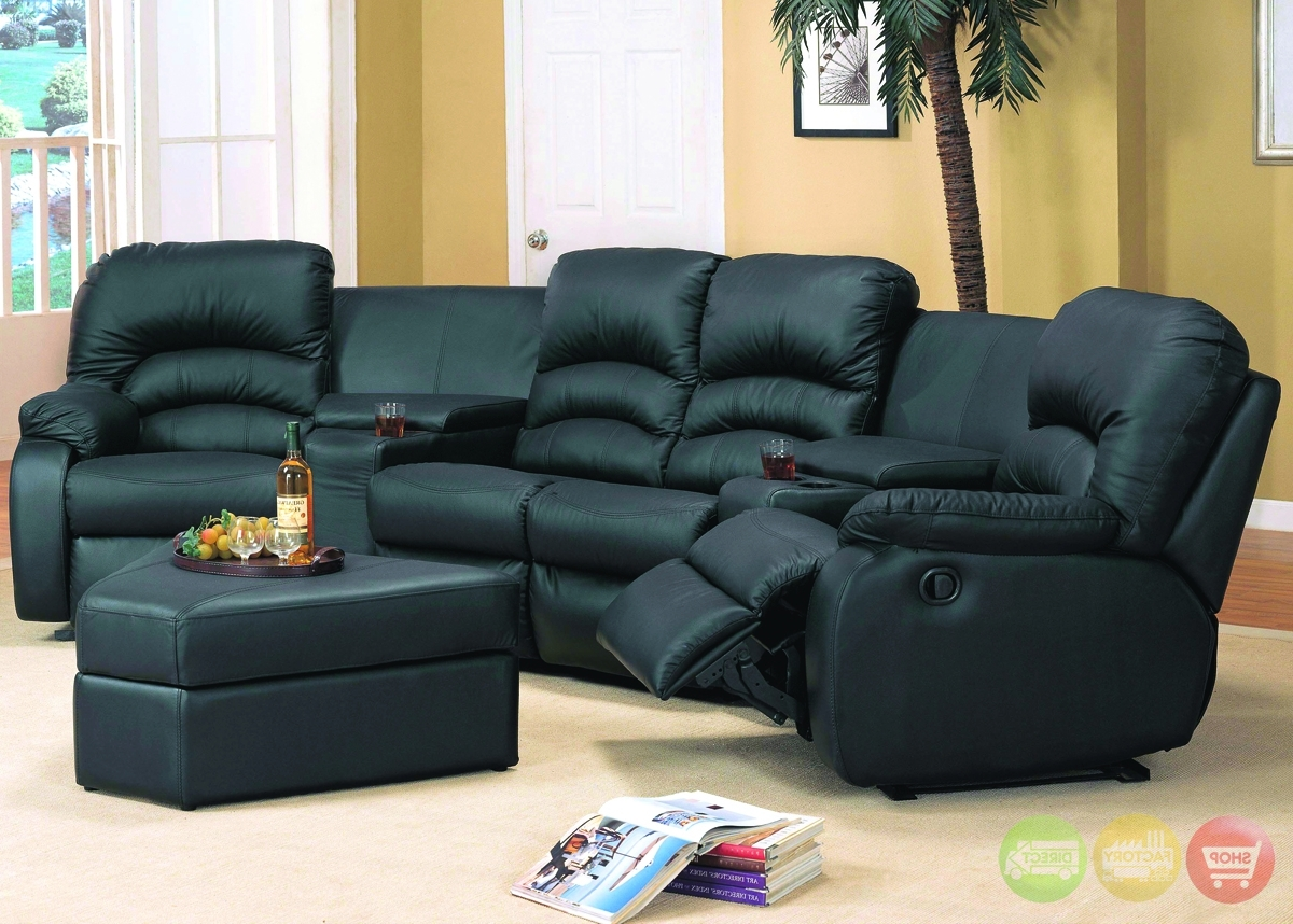 Theatre Sectional Sofas Throughout Most Popular Home Theater Sofas And Ventura Black Leather Sectional Sofa (View 13 of 20)