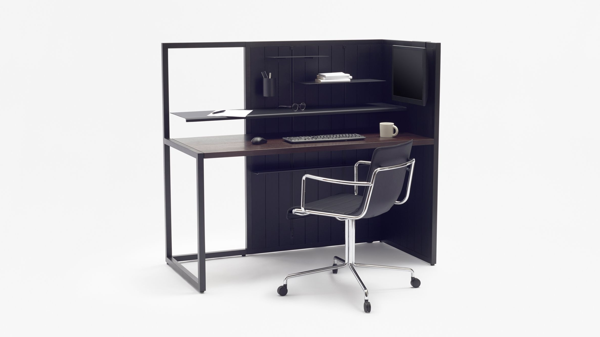 This Asymmetric Workstationnendo Was Designed Specifically For Throughout 2019 Japanese Computer Desks (Gallery 6 of 20)