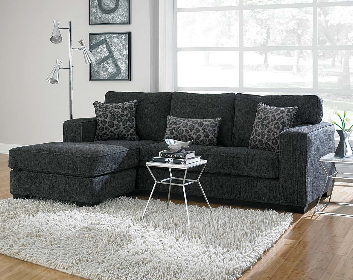 This Dark Gray Sectional Sofa Is Covered In A Soft Chenille And Pertaining To Best And Newest Layaway Sectional Sofas (View 2 of 20)