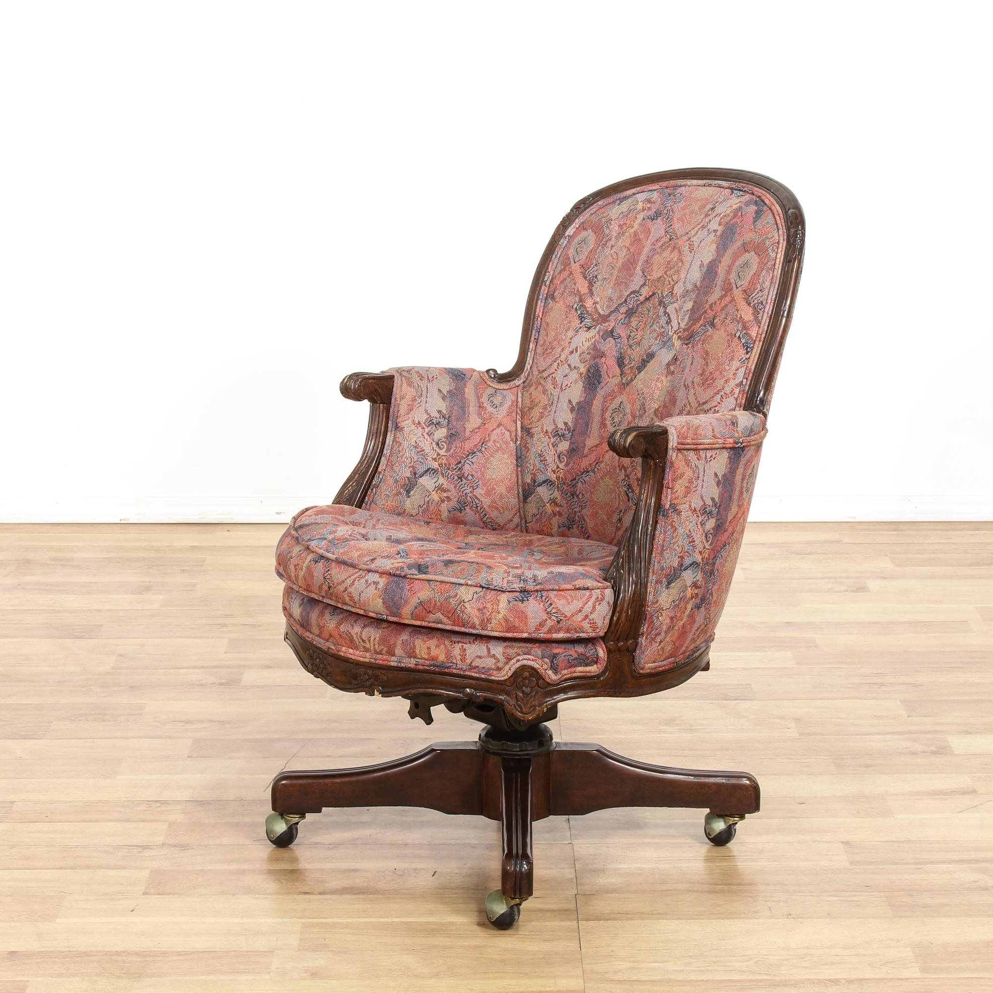 This Desk Chair Is Upholstered In A Durable Bohemian Print Fabric With Regard To Famous Upholstered Executive Office Chairs (View 13 of 20)