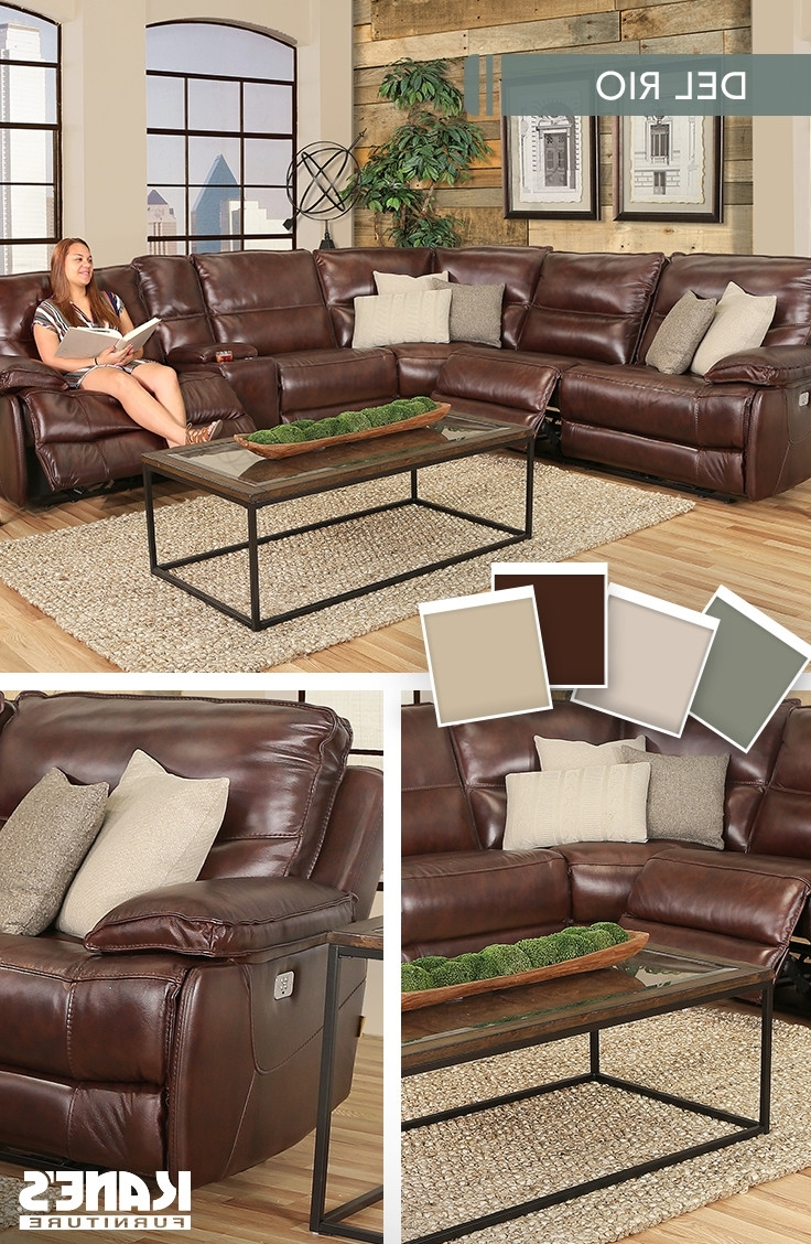 This Valente 6 Piece Power Reclining Leather Sectional Package With Regard To Well Liked Kanes Sectional Sofas (View 11 of 20)