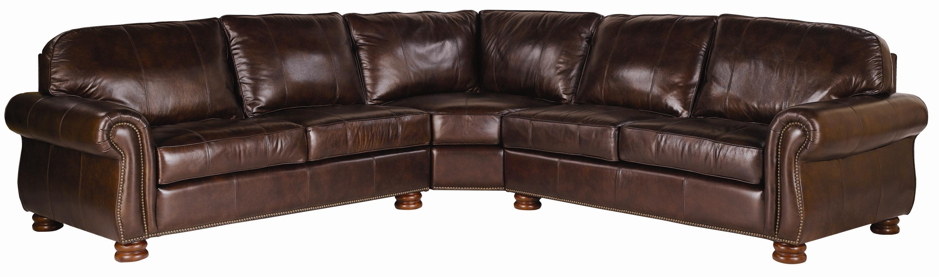 Thomasville Sectional Sofas Pertaining To Most Up To Date Thomasville® Leather Choices – Benjamin Leather Select 3 Piece (View 16 of 20)