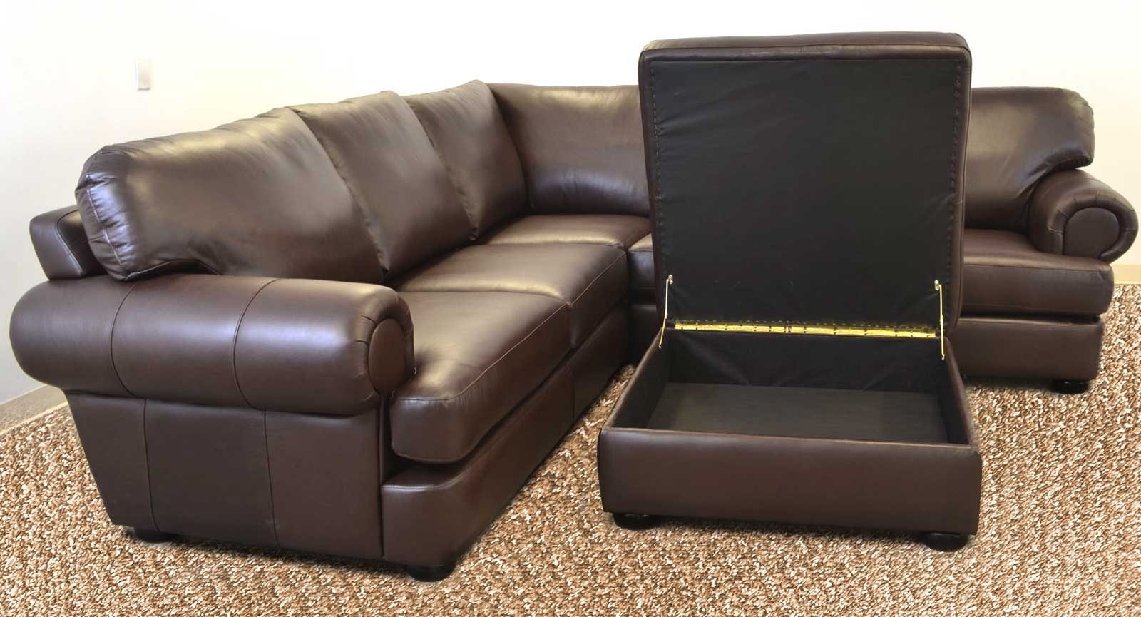 Titan Sofa ‹‹ The Leather Sofa Company For 2019 Loveseats With Ottoman (View 20 of 20)