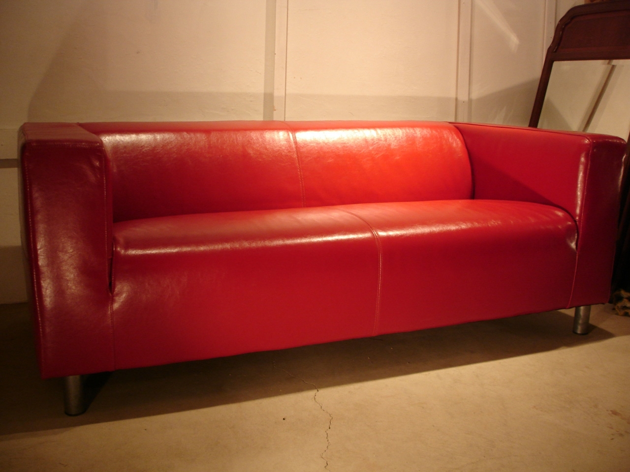 To Fix My Leather Klippan Sofa: Will Replacement Covers Work? Within Most Up To Date Red Leather Sofas (View 17 of 20)