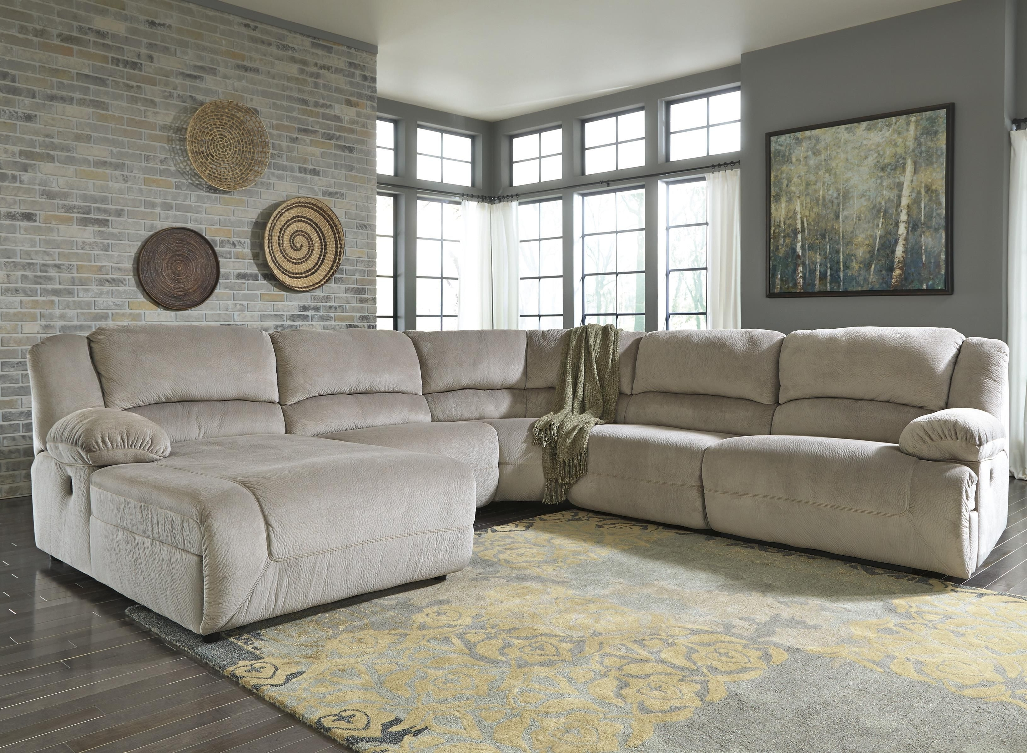 Toletta – Granite Power Reclining Sectional With Chaise In Most Popular Huntsville Al Sectional Sofas (View 16 of 20)