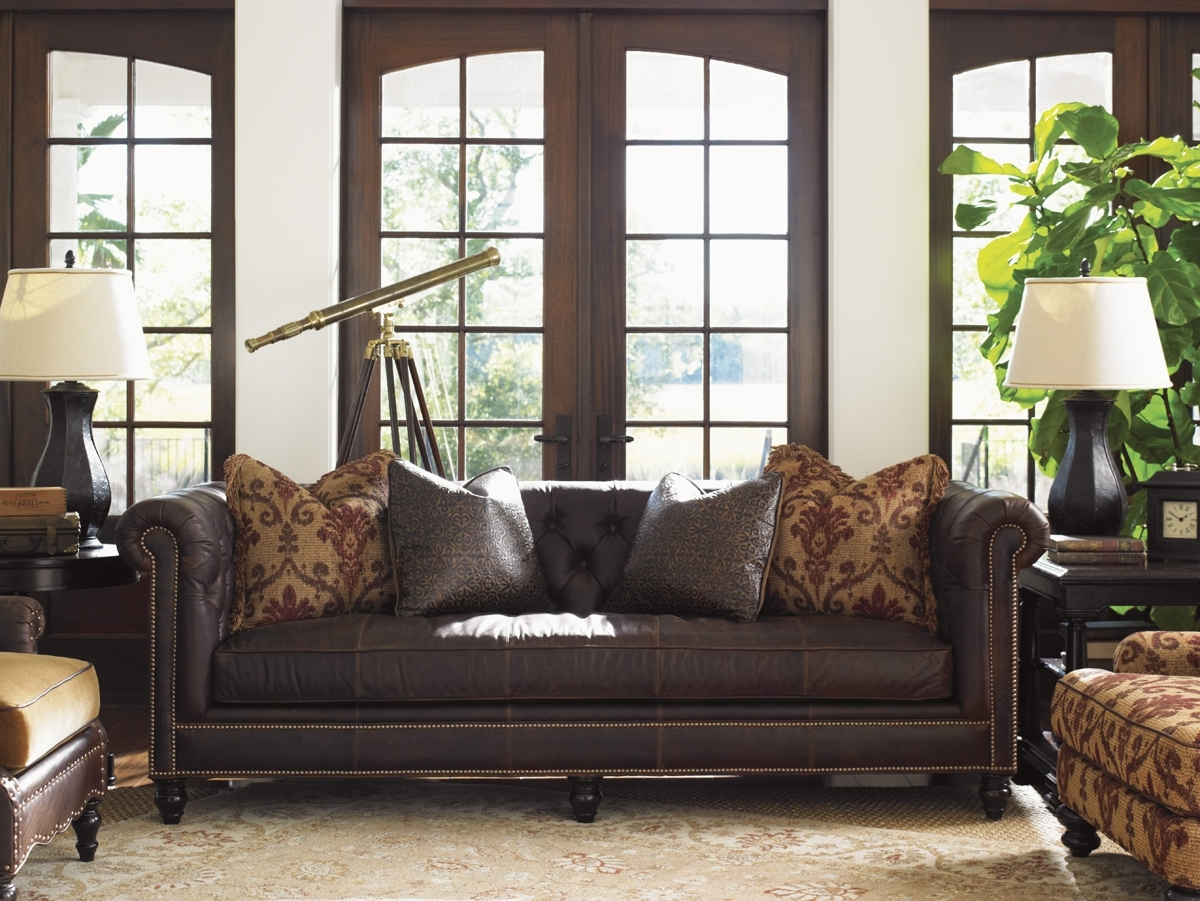 Tommy Bahama Upholstery Manchester Leather Sofa (Gallery 7 of 20)