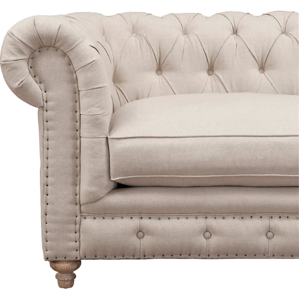 Tov Furniture Tov S19 Oxford Chesterfield Style Sofa W/ Tufted Inside Trendy Tufted Linen Sofas (View 9 of 20)