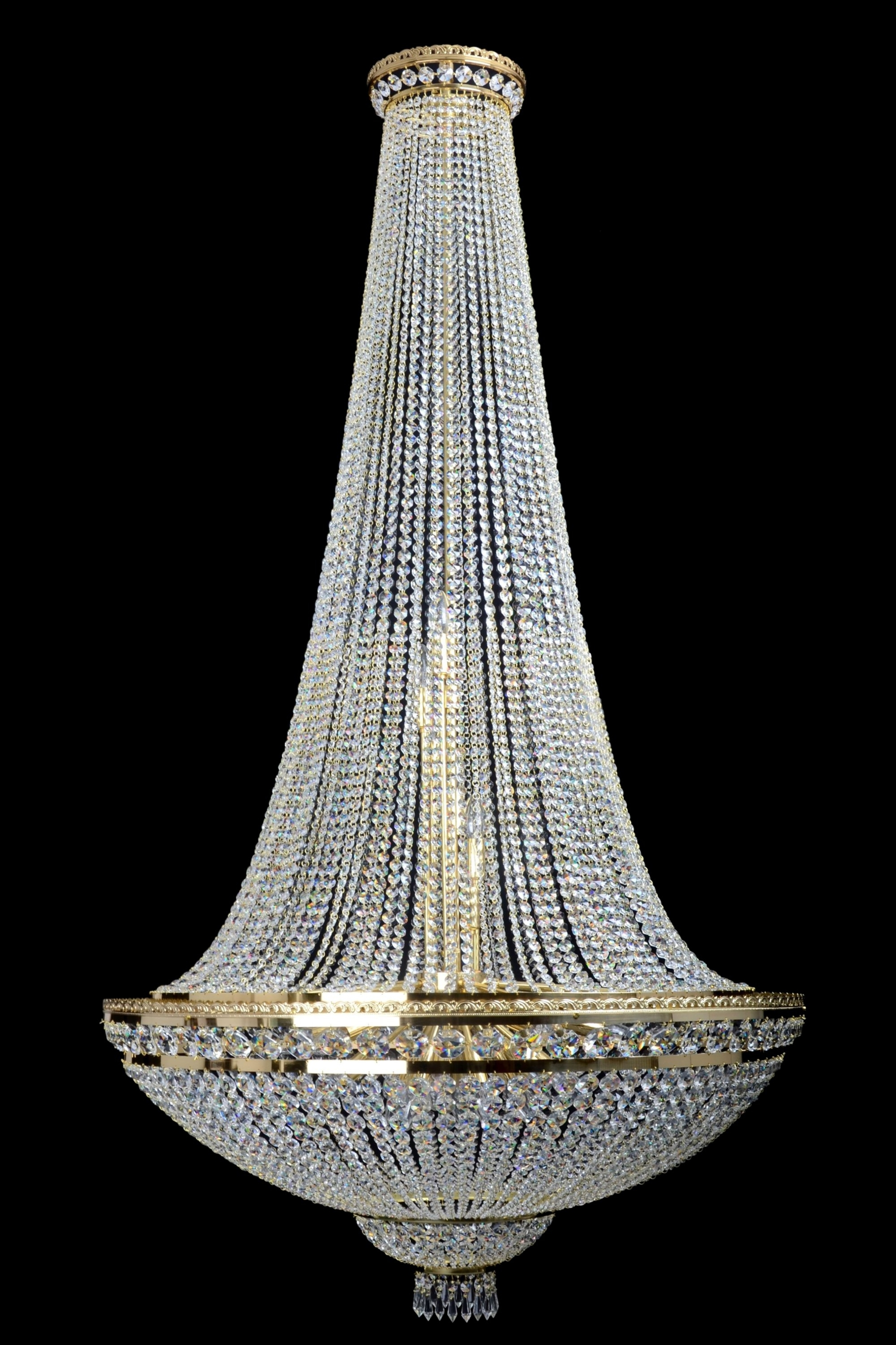 Traditional Crystal Chandeliers Intended For Most Recently Released Ccb7150 21 Basket Style Empire Chandelier – The Crystal Chandelier (View 15 of 20)