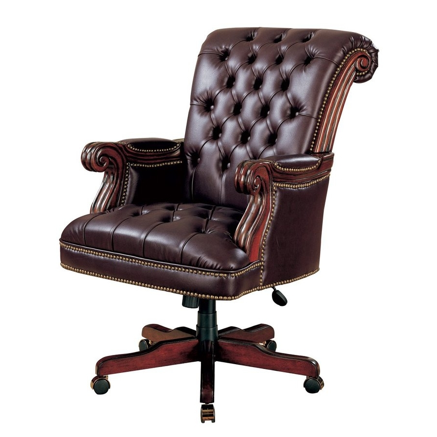 Traditional Executive Office Chairs Regarding Famous Shop Coaster Fine Furniture Burgundy Traditional Executive Chair (View 14 of 20)