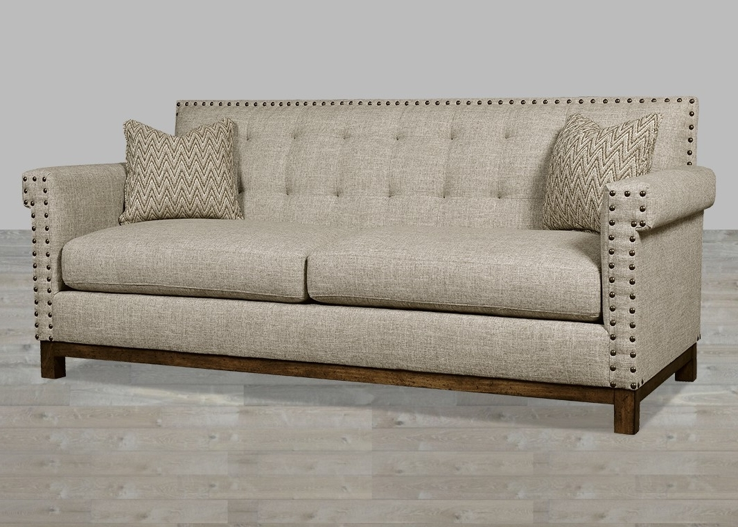 Traditional Fabric Sofas In Best And Newest Traditional Linen Fabric Sofa With Huston's Arroyo Finish (View 3 of 20)