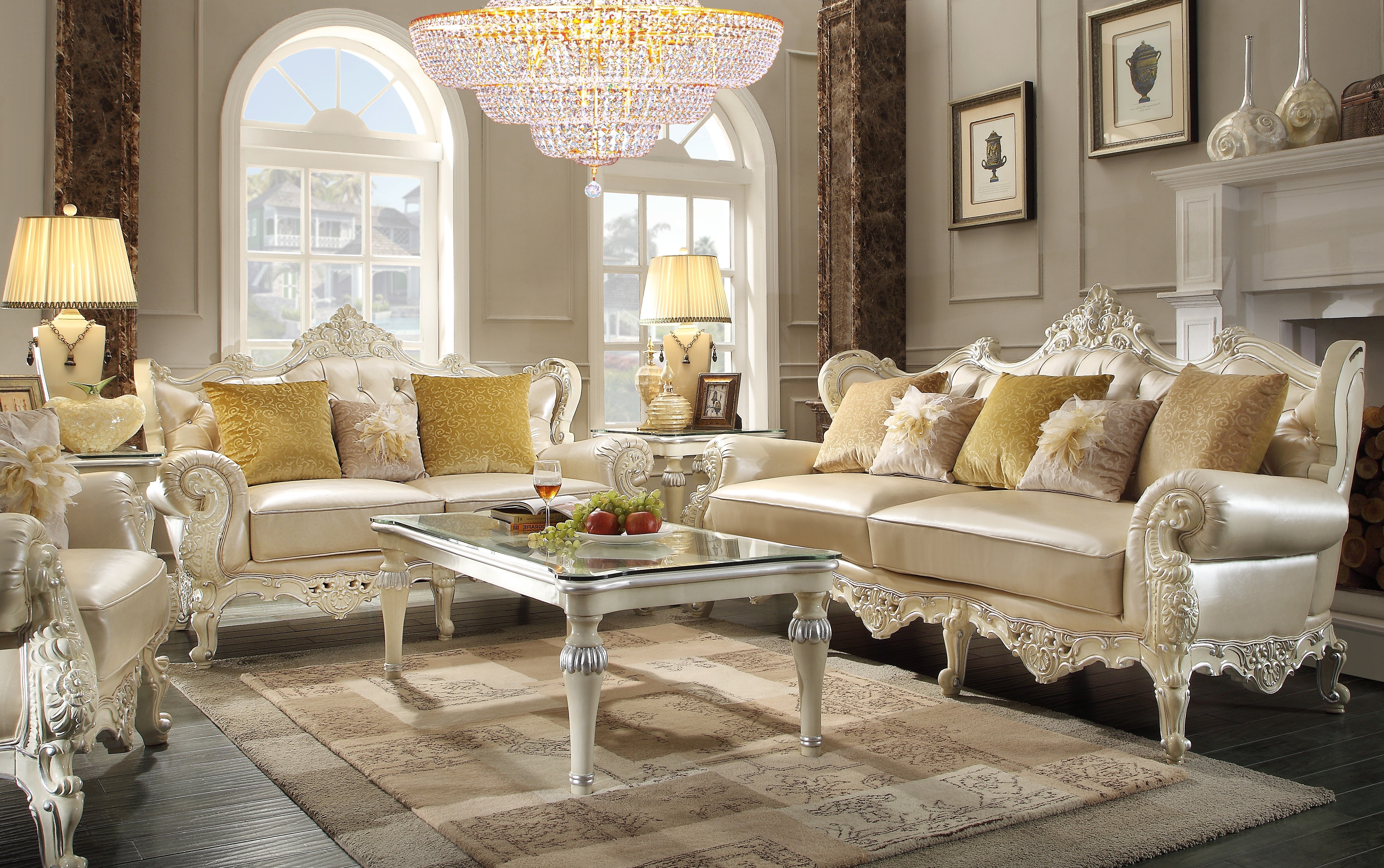 Traditional Sofas With Regard To Well Liked Hd 13009 Homey Design Traditional Sofa Set – Contemporary Living (View 19 of 20)