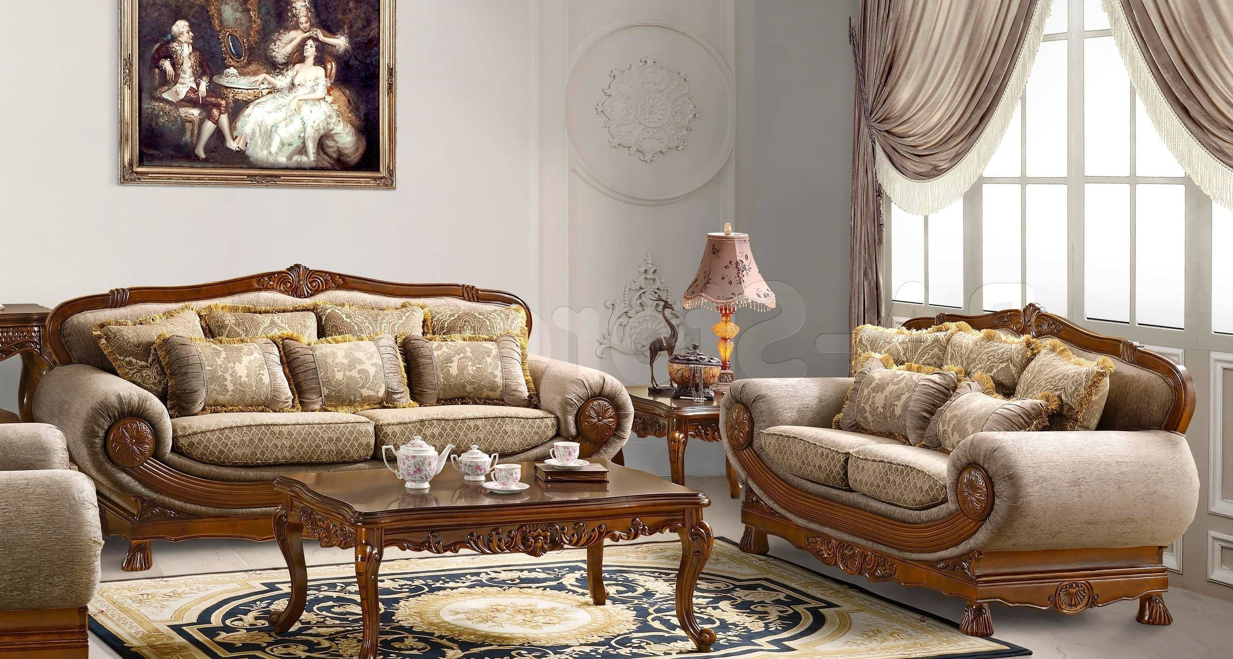 Traditional Sofas With Wood Trim Traditional Sofa India Formal With Regard To Newest Traditional Sofas (View 15 of 20)