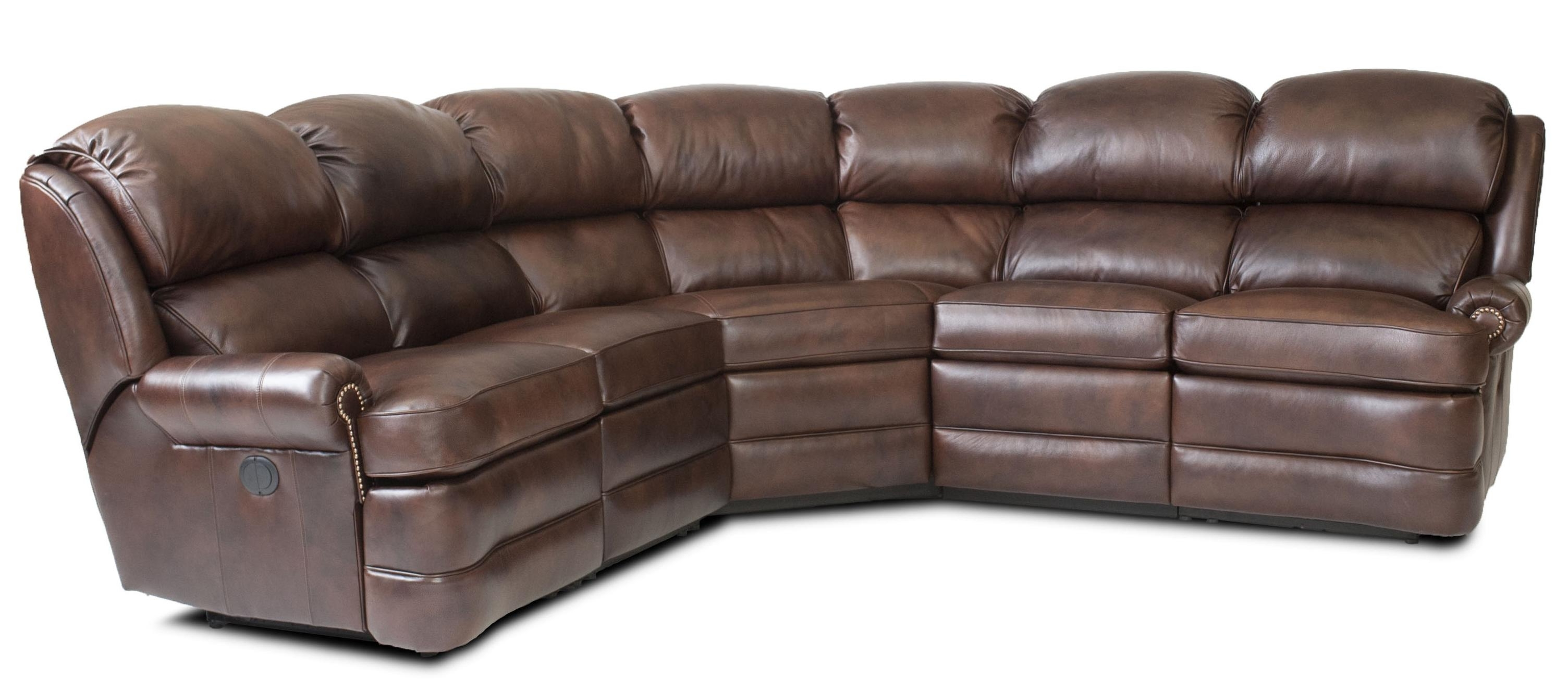 Transitional 5 Piece Reclining Sectional Sofa With Small Rolled Regarding Most Up To Date Overstuffed Sofas