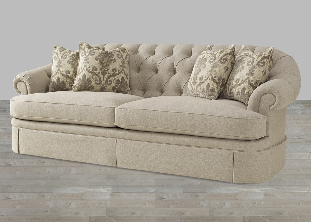 Transitional Camel Tweed Fabric Sofa With Light Beige Finish Within Popular Tweed Fabric Sofas (View 16 of 20)