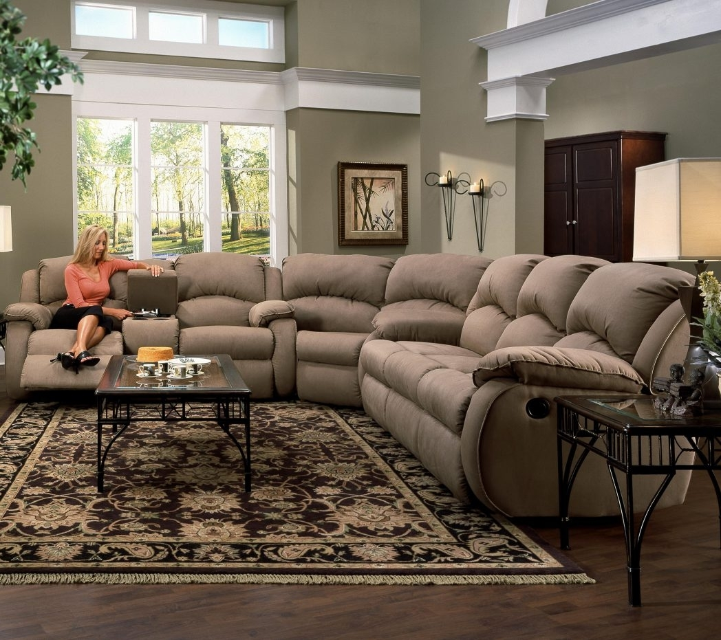Tremendeous Sectional Sofas With Recliners And Cup Holders Sofa Pertaining To Most Up To Date Sectional Sofas With Cup Holders (View 8 of 20)
