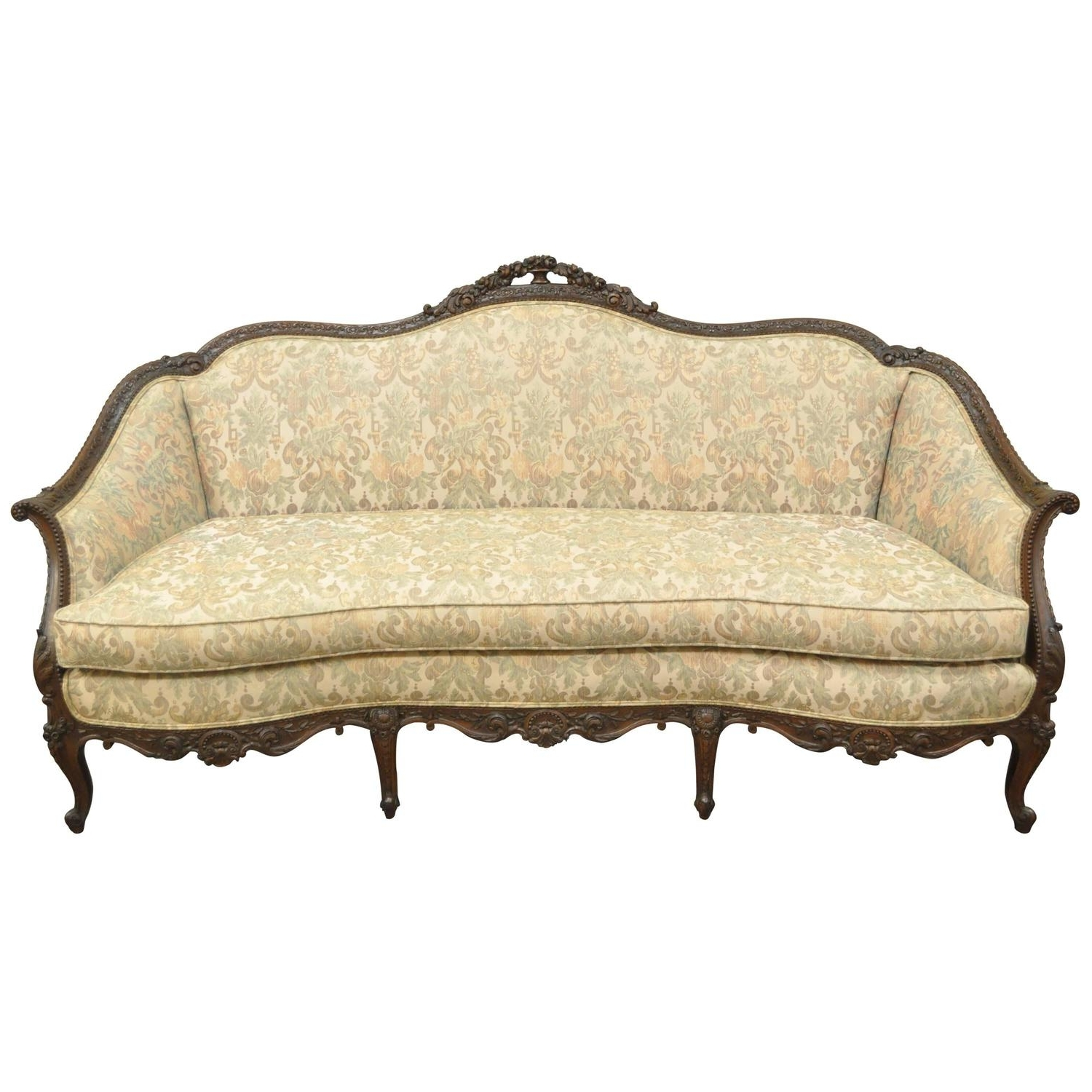 Trendy 1930S Sofas With 1930S French Louis Xv Hollywood Regency Style Finely Carved (View 17 of 20)