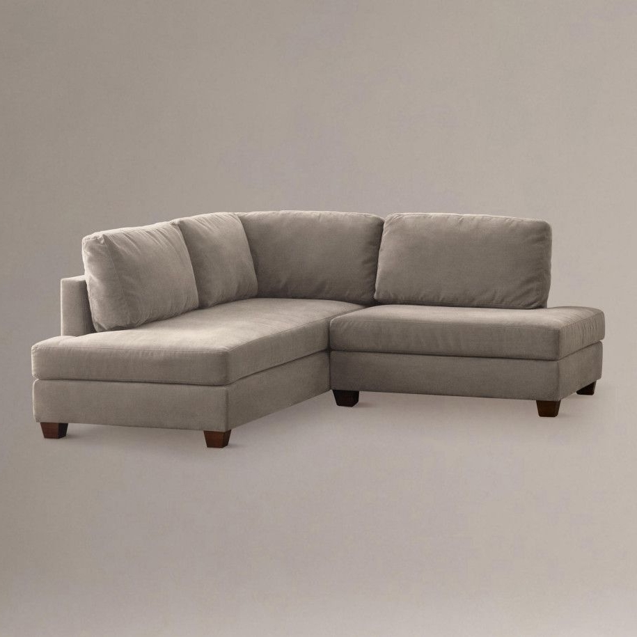 Trendy 2 Seat Sectional Sofas Throughout Putty Wyatt Small Sectional Sofa Close (View 7 of 20)