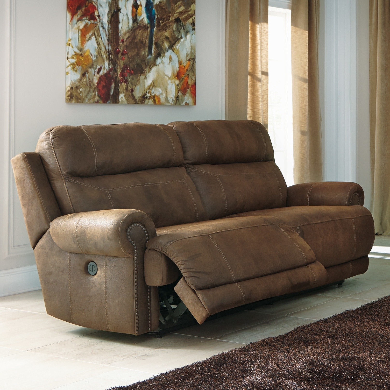 Trendy 2 Seat Sectional Sofas With Austere 2 Seat Reclining Sofasignature Designashley (View 9 of 20)