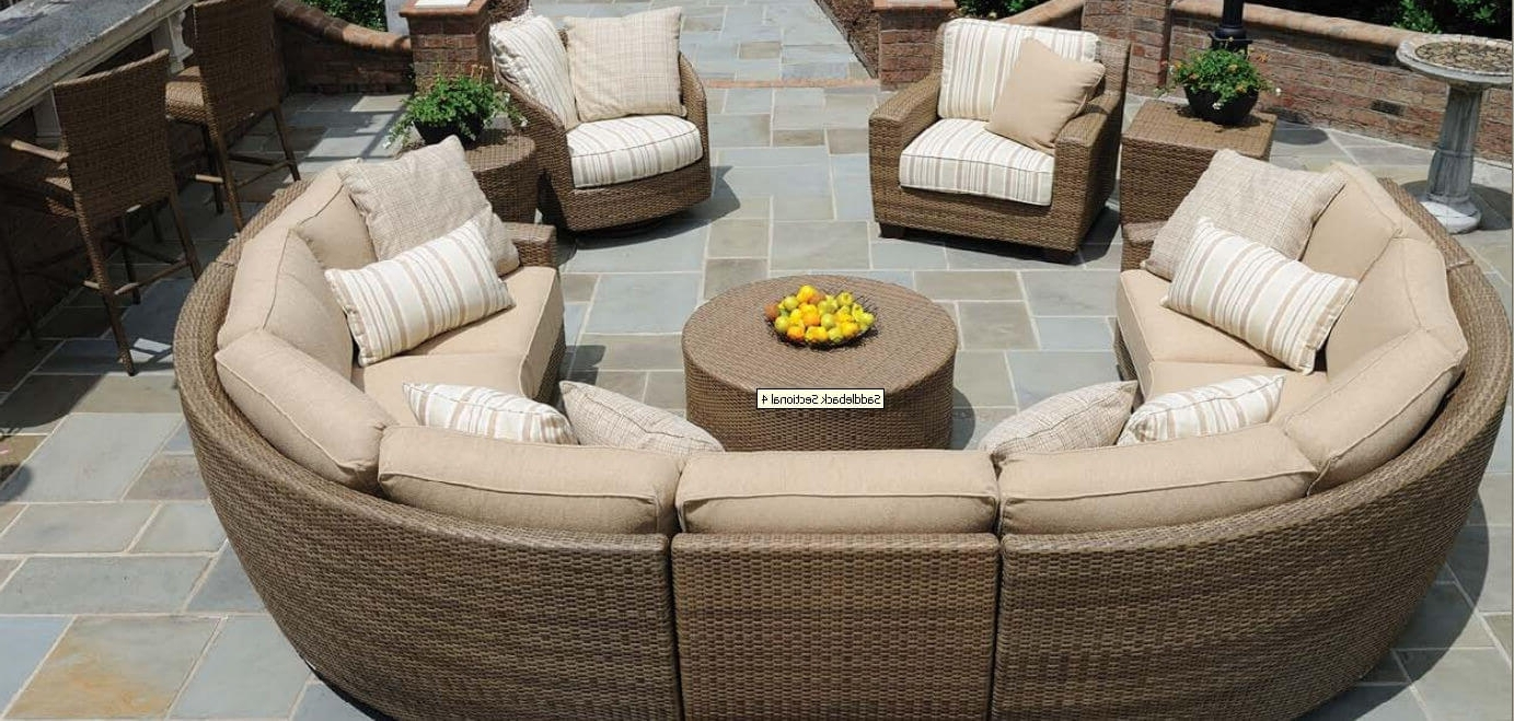Trendy 25 Awesome Modern Brown All Weather Outdoor Patio Sectionals For C Shaped Sofas (View 17 of 20)