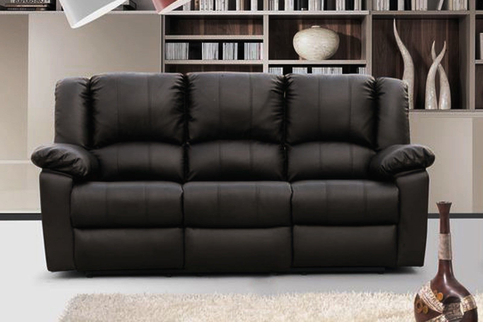 Trendy 3 Seater Leather Sofas With Sofa : Creative 3 Seater Leather Sofa Recliner Excellent Home (View 18 of 20)