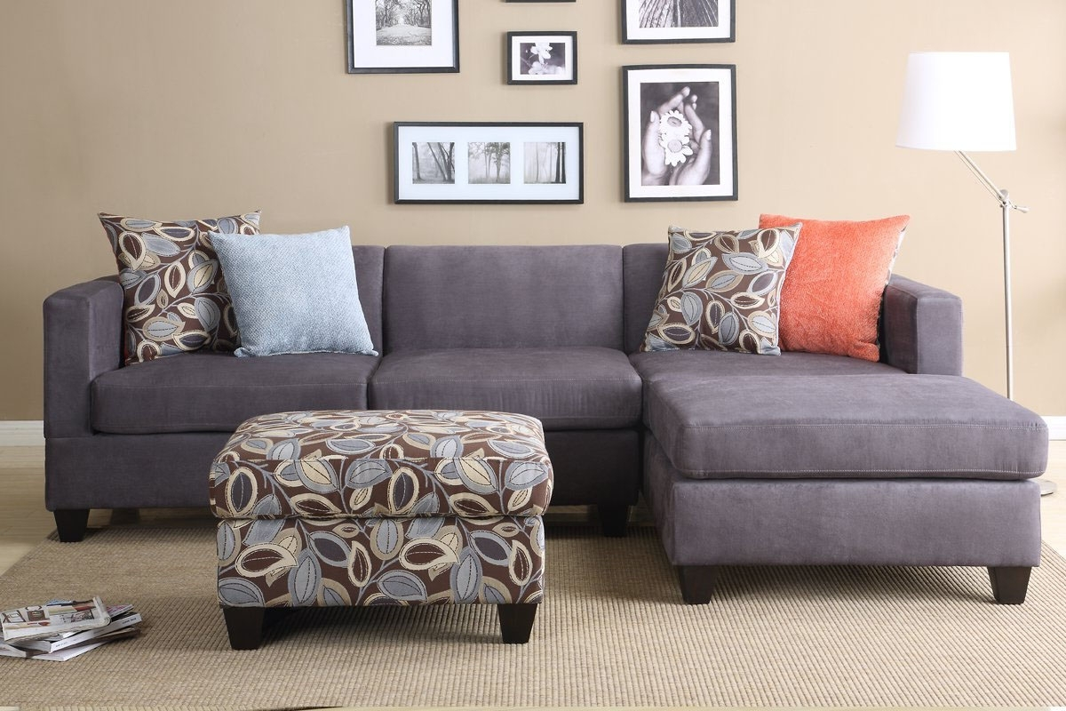Trendy Ashley Furniture Microfiber Sectional Mid Century Modern Sectional Throughout Sectional Sofas In Small Spaces (View 8 of 20)