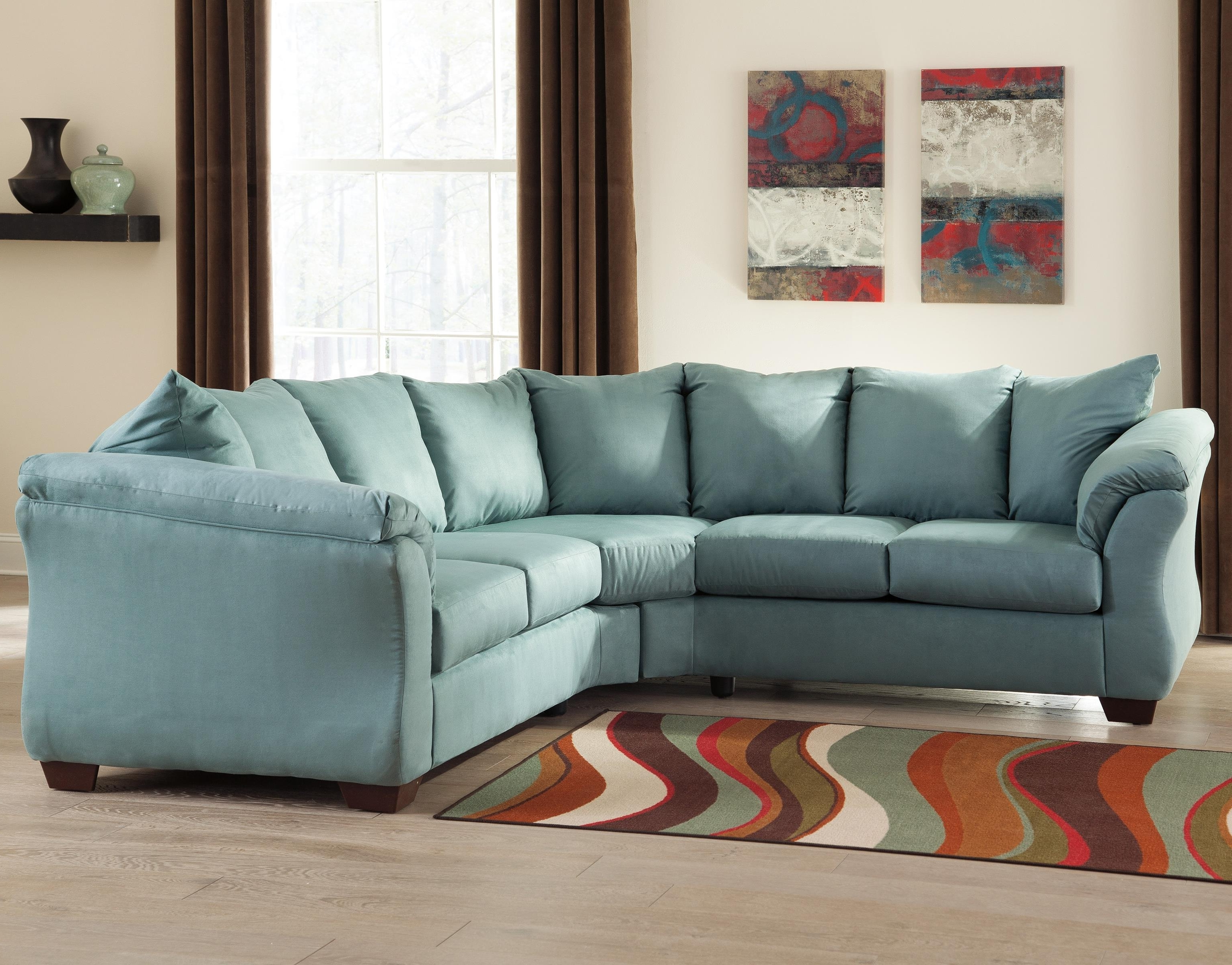 Trendy Ashley (Signature Design) Darcy – Sky Contemporary Sectional Sofa Intended For Johnny Janosik Sectional Sofas (View 18 of 20)