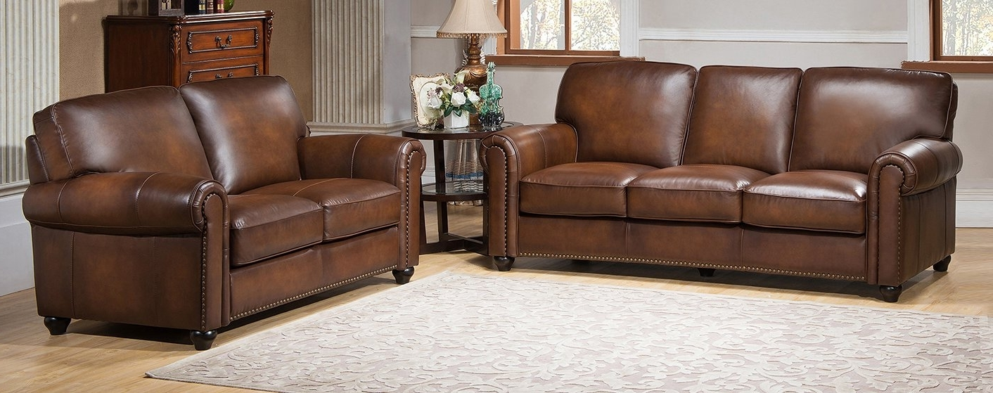 Trendy Aspen Leather Sofas Within Amax Aspen 2 Piece Leather Living Room Set & Reviews (View 14 of 20)